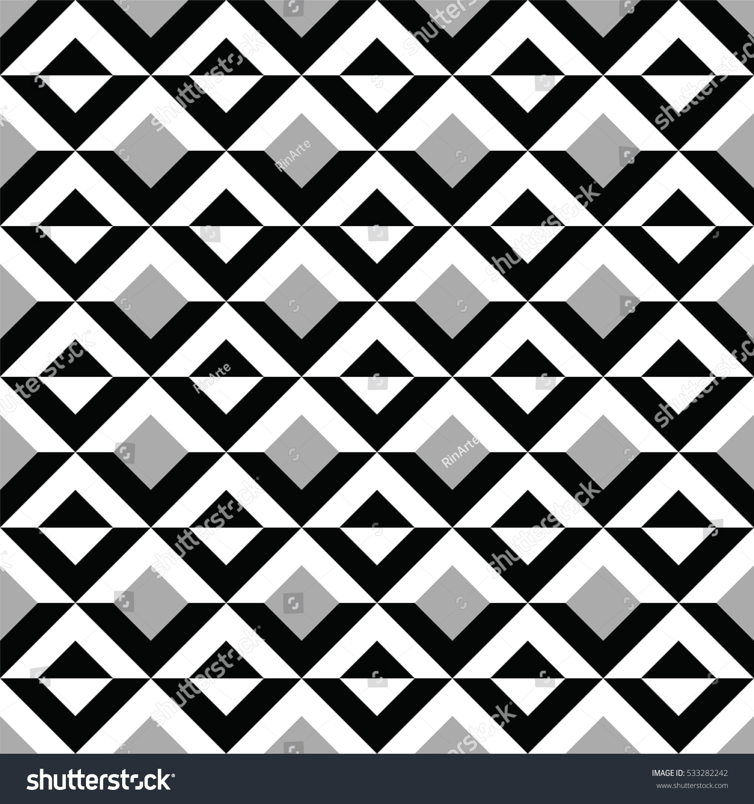 black white geometric shapes pattern abstract stock vector