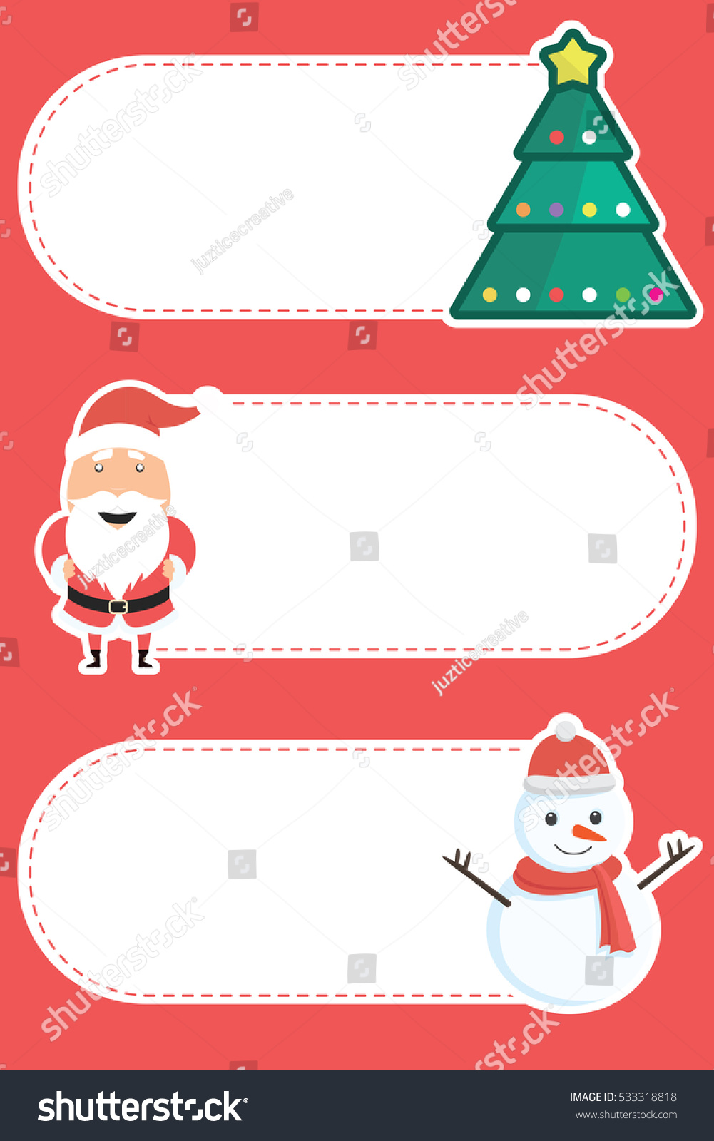 christmas new year blank labels