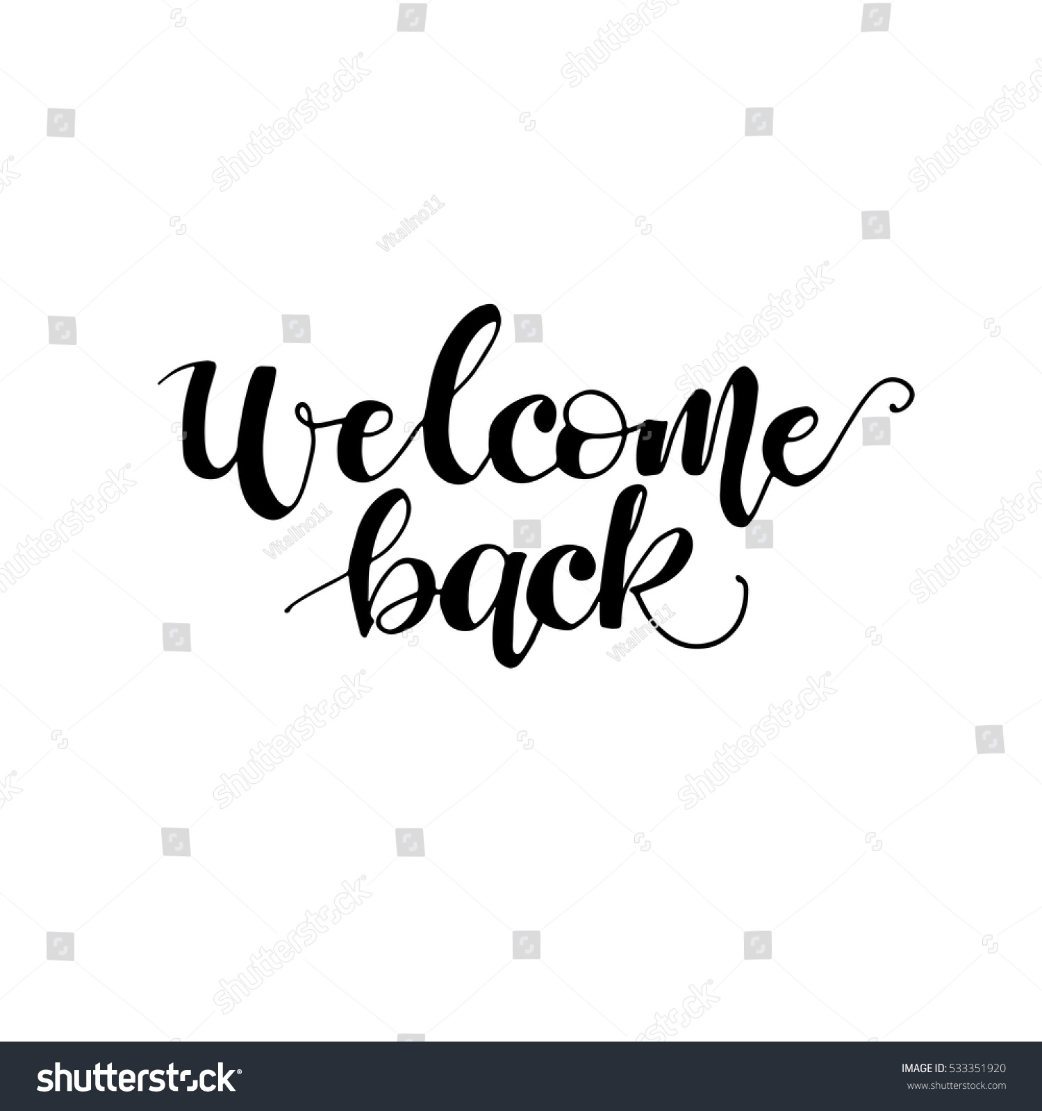 Welcome back card poster hand drawn stock vektor