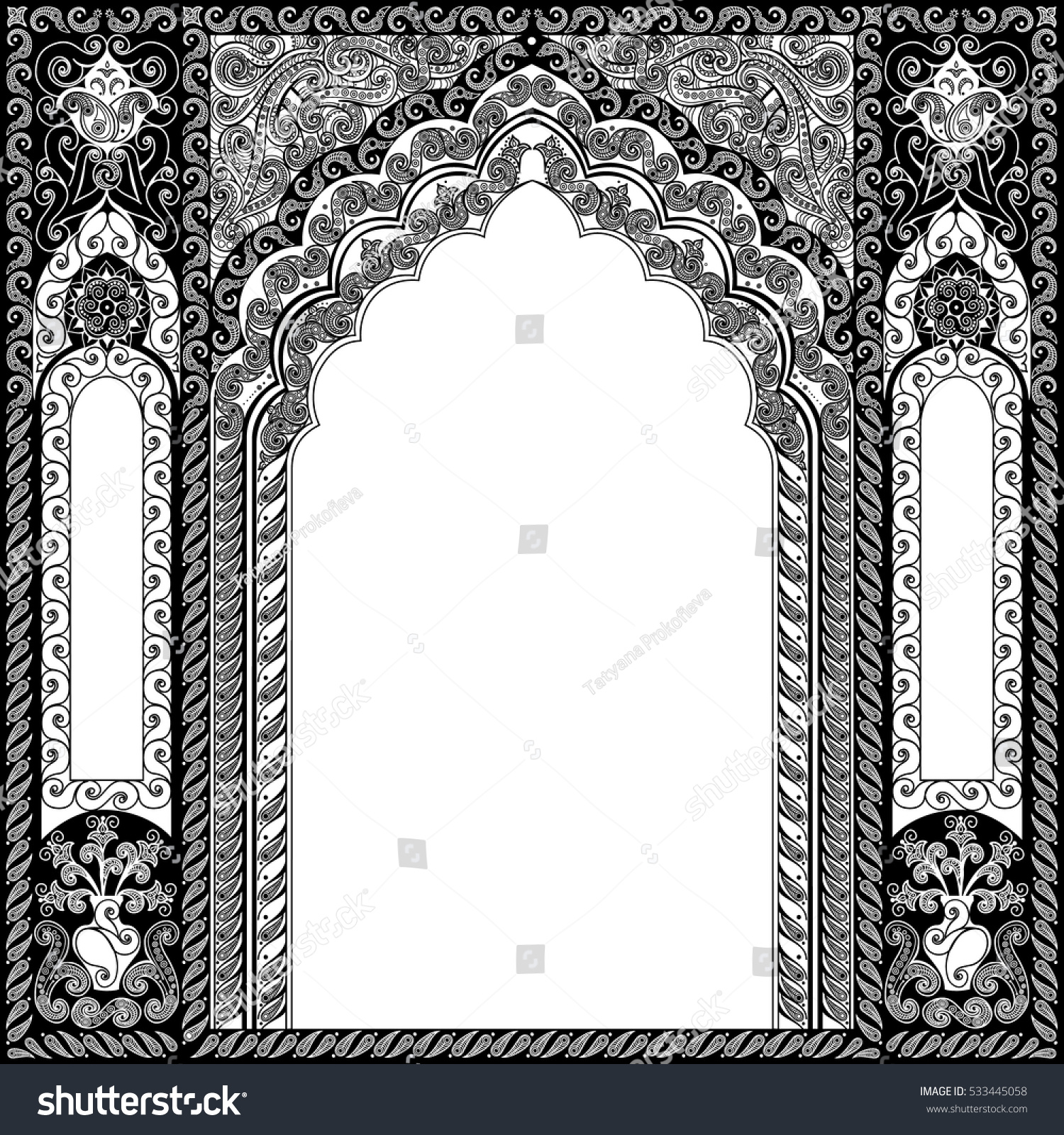 Architectural Arch Arabic Traditional Islamic Background Stock ...