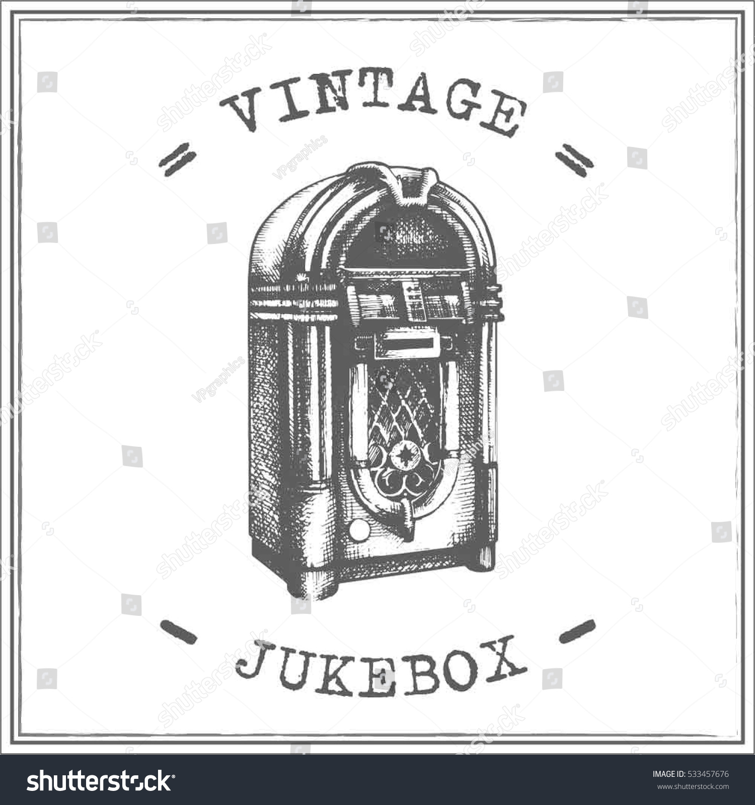 Line Art Jukebox : Vintage jukebox vector stock shutterstock