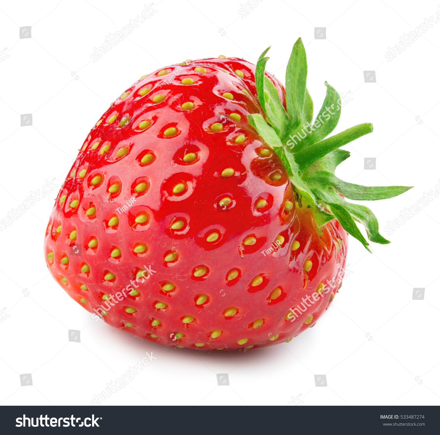 Strawberry Fresh berry isolated on white background