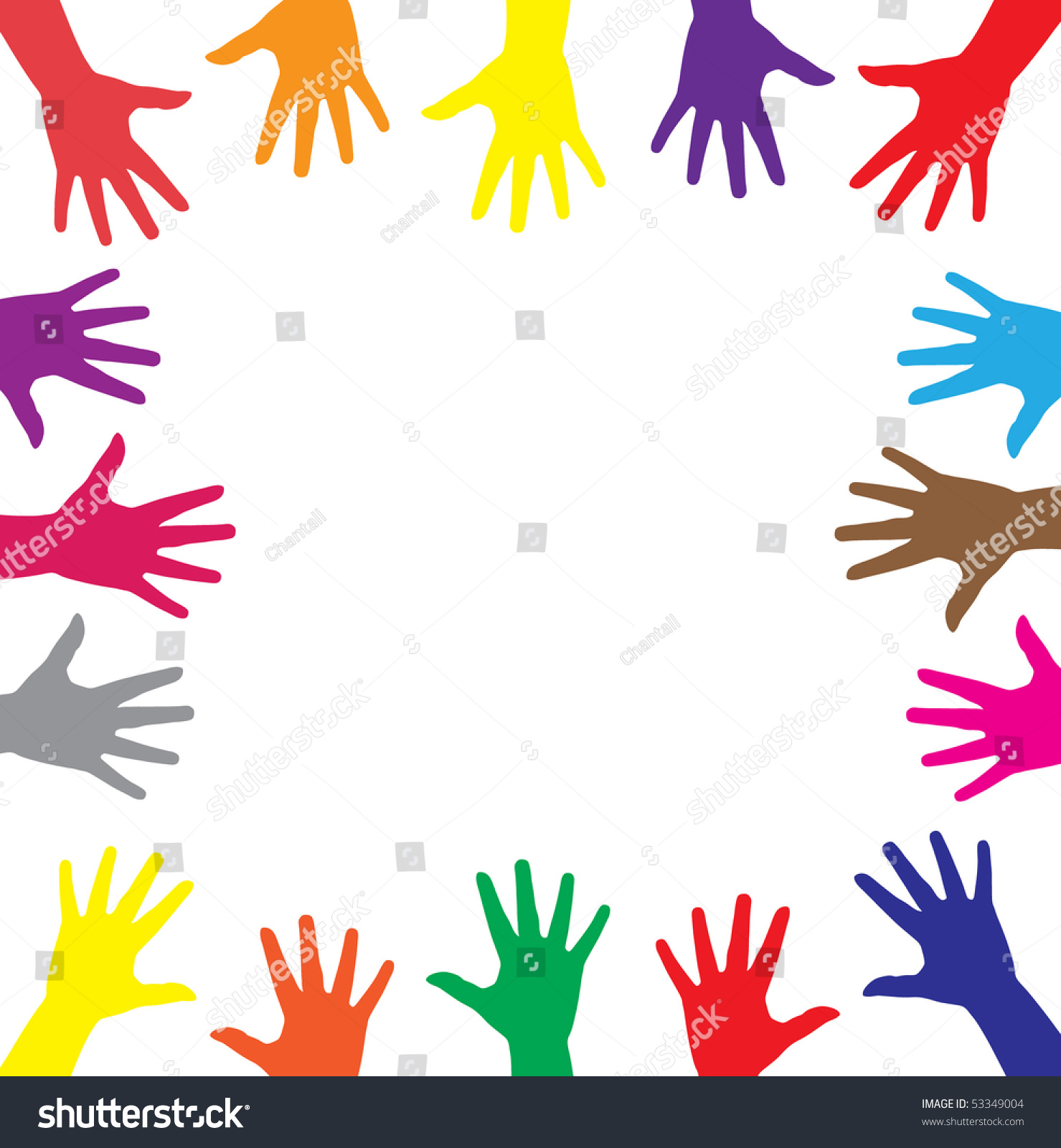 multicolor hands symbol diversity stock photo photo vector rh shutterstock com Diversity Clip Art Borders Mountain Clip Art