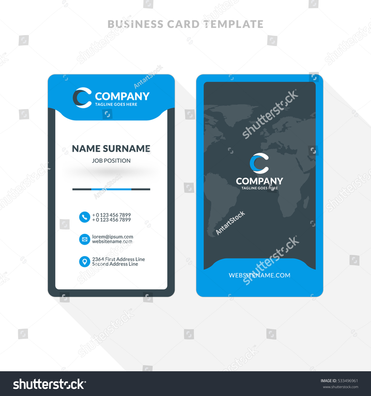 Double Sided Business Cards Template Word