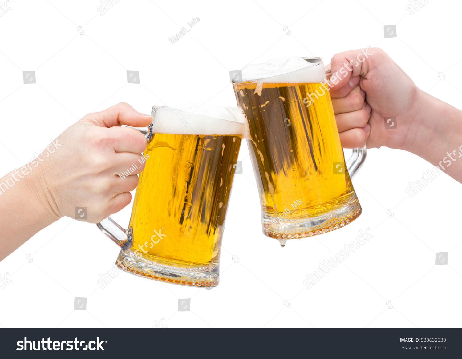Beer clinking glasses