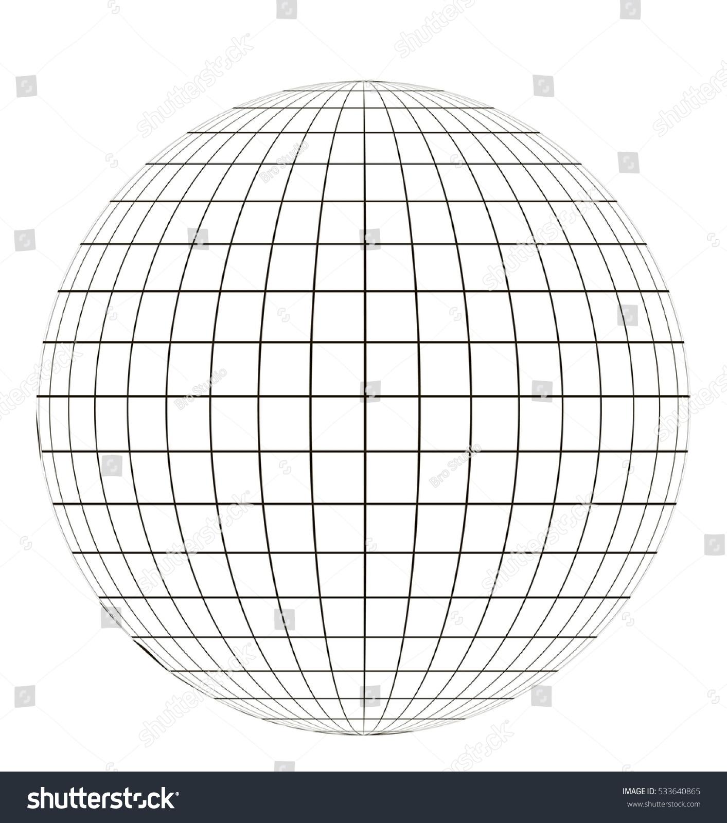 Globe Grid Sphere Pattern Globe Angering Stock Vector ...