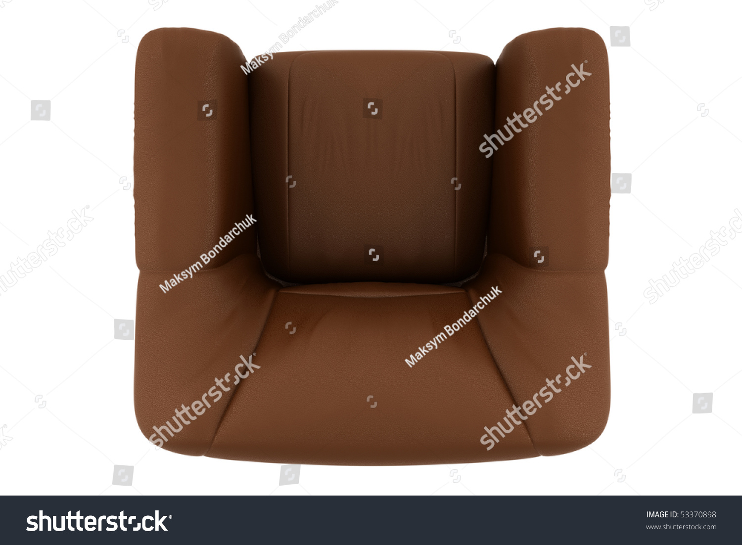 brown leather sofa isolated - photo #24