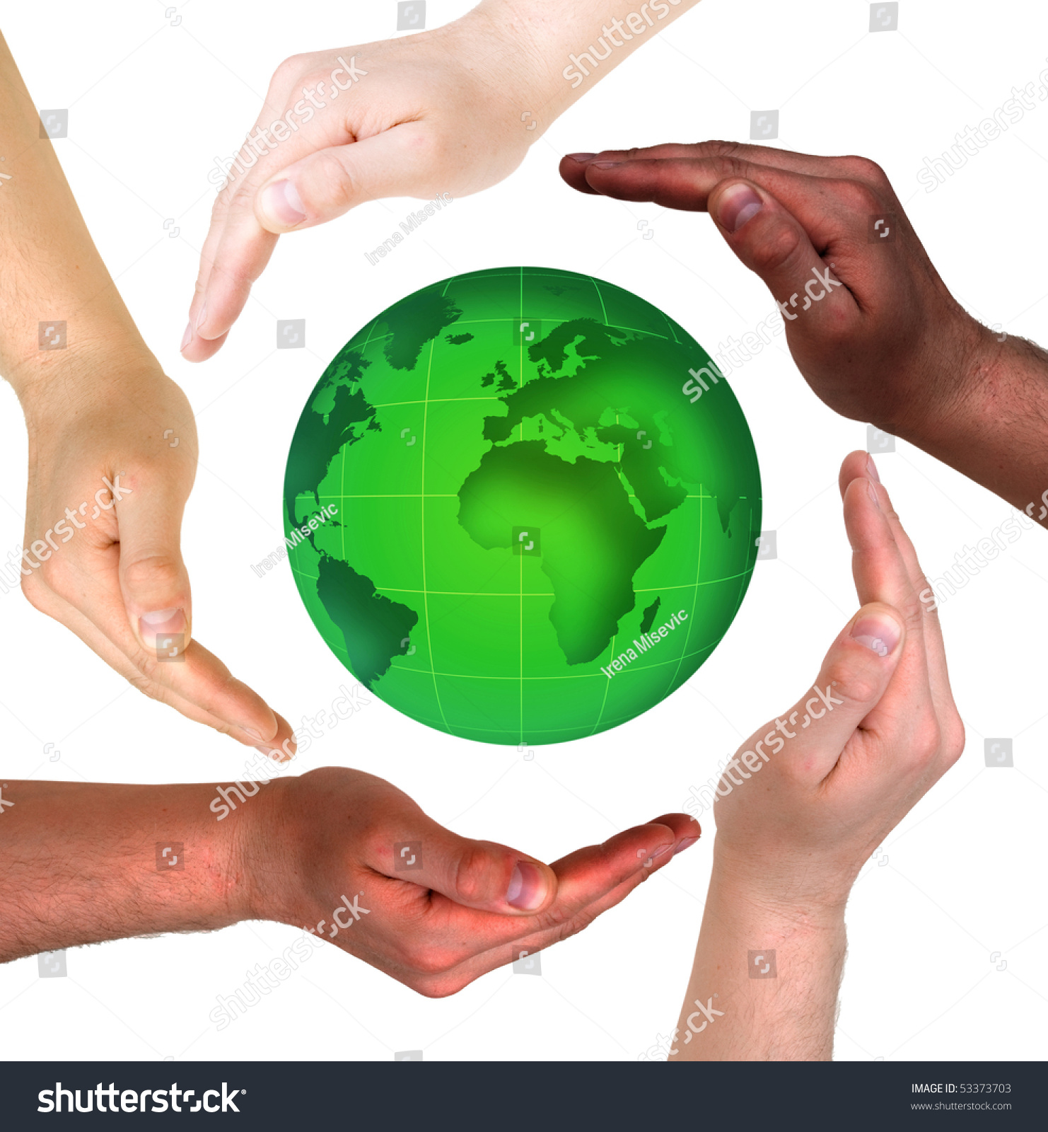 Conceptual safety symbol made hands over stock photo 53373703 conceptual safety symbol made from hands over globe biocorpaavc