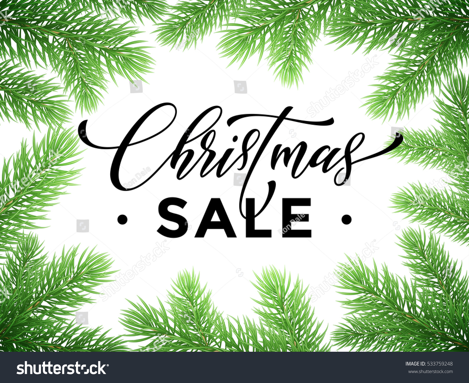 promotion discount sale poster christmas tree stock vector 533759248