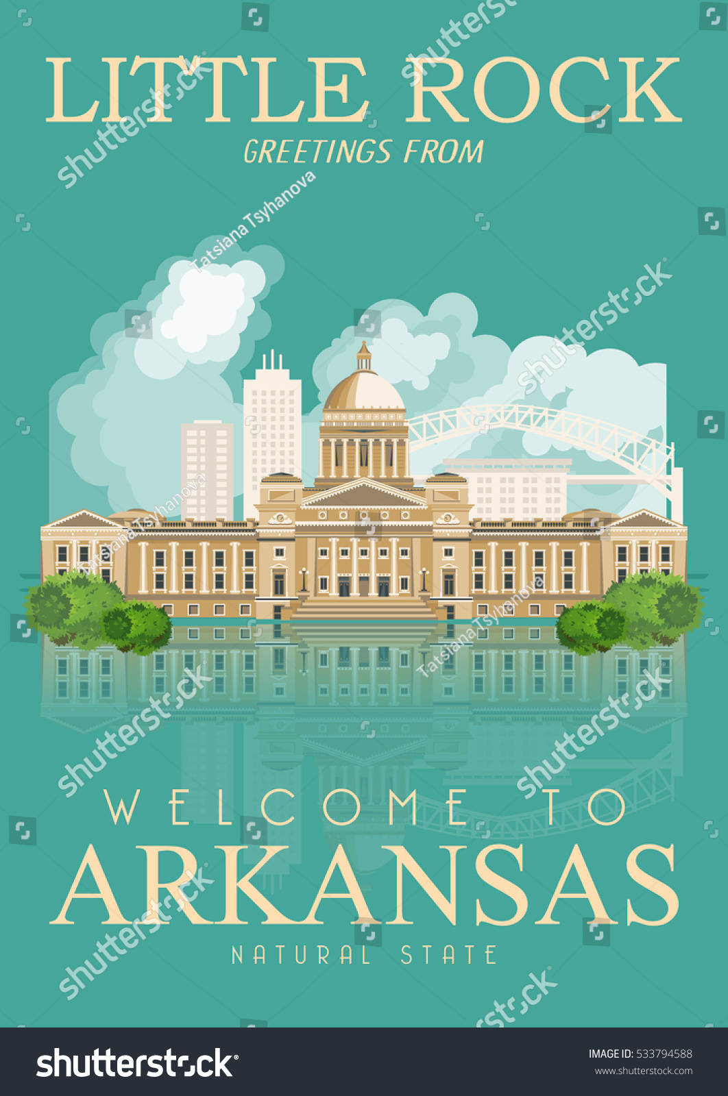 Arkansas vector american poster usa travel stock vector 533794588 arkansas vector american poster usa travel illustration united states of america colorful greeting card kristyandbryce Images