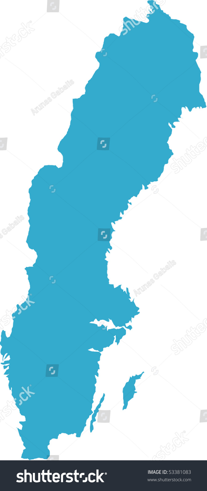 There Map Sweden Country Stock Vector Shutterstock - Sweden map of country