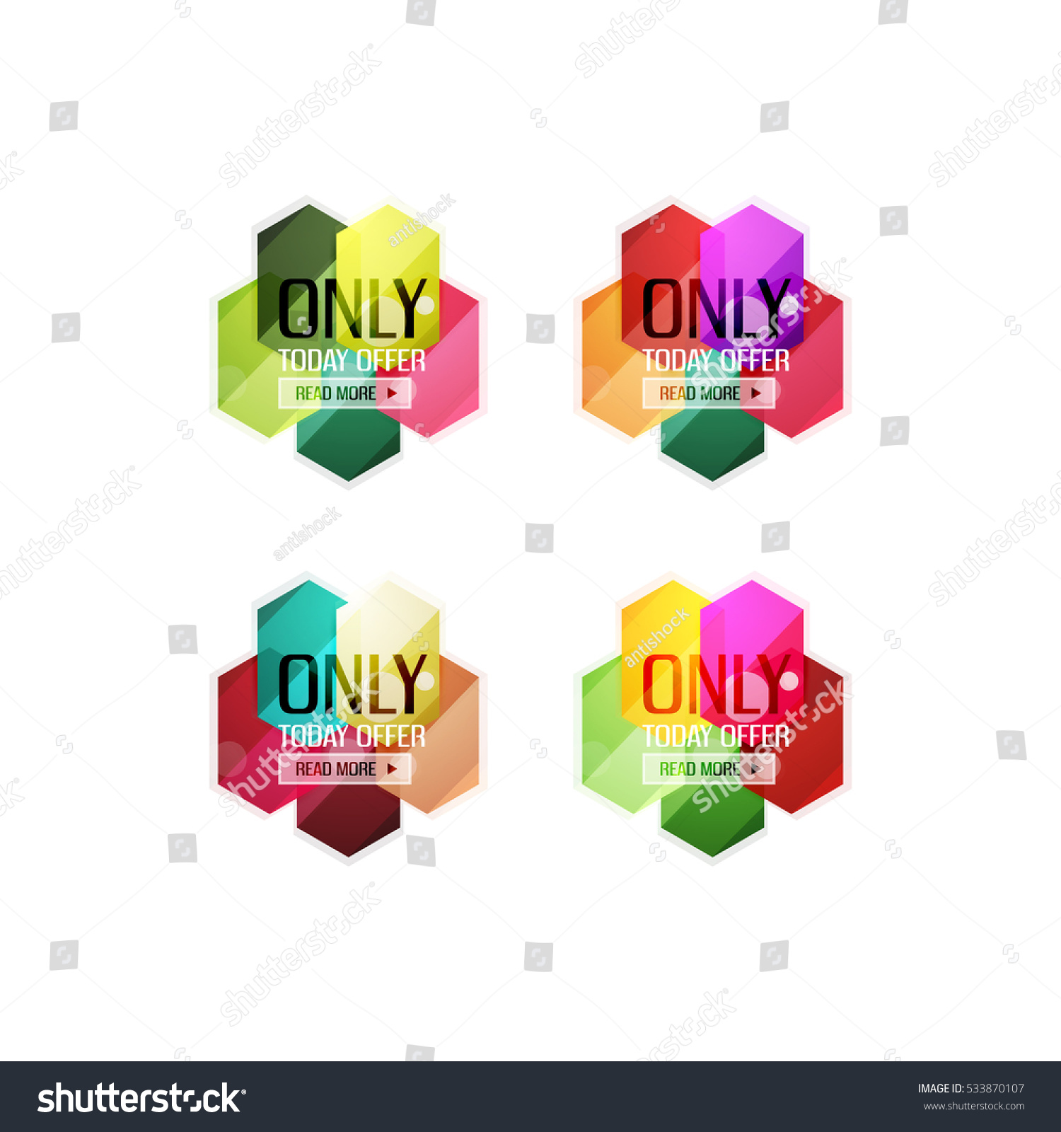 vector special offer stickers banners stock vector 533870107 vector special offer stickers and banners tags labels or advertising special offer templates