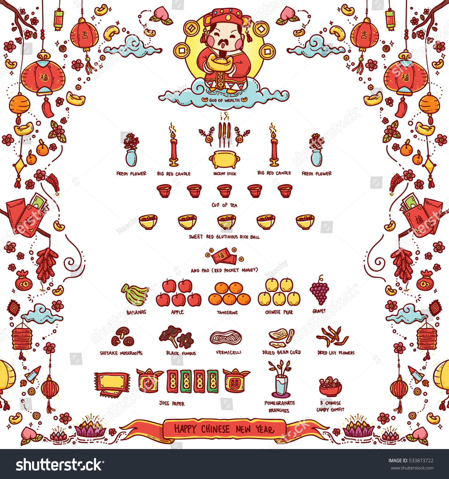 Vector illustration chinese god wealth tsai stock vector 533873722 vector illustration of chinese god of wealth tsai shen yeh worshiped offering sacrifices on biocorpaavc