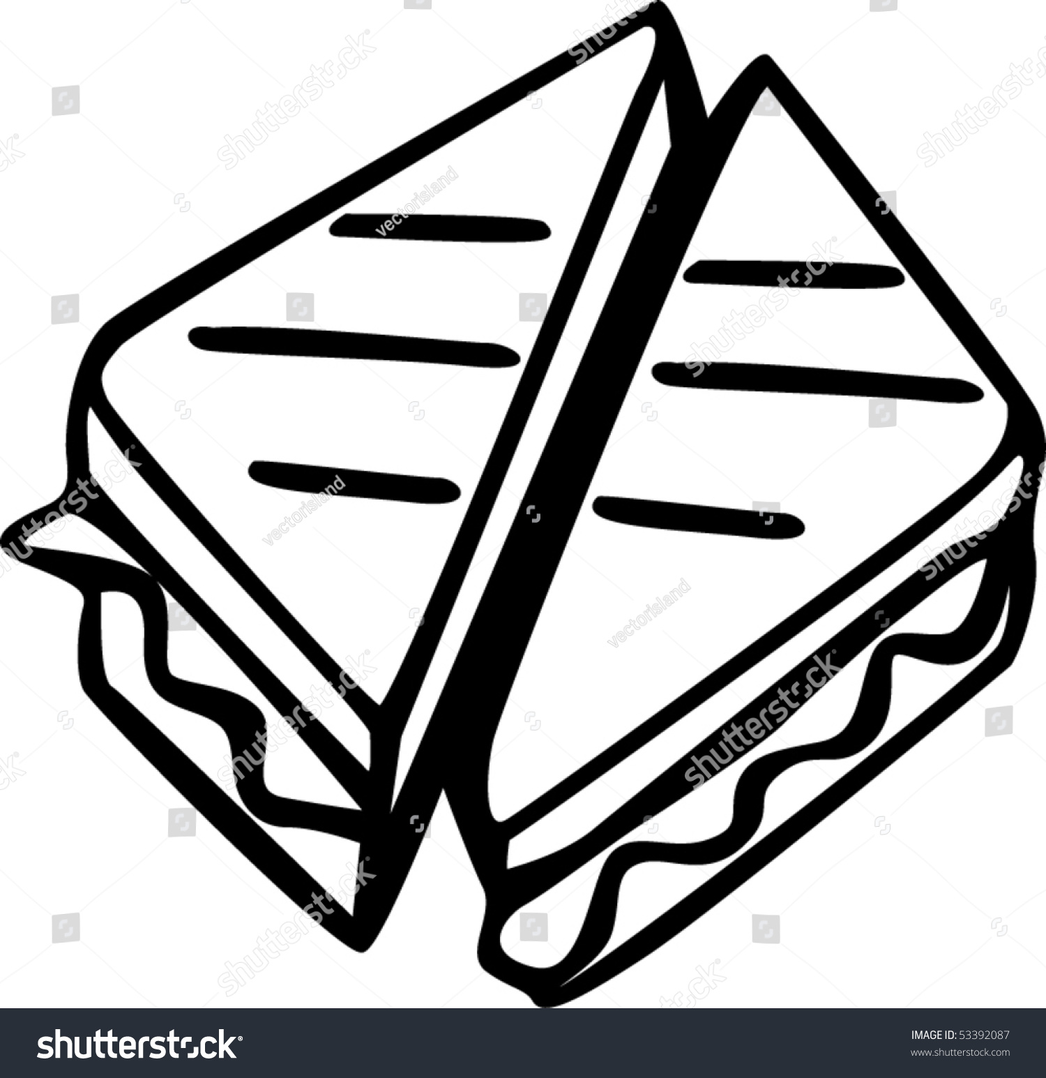 grilled cheese sandwich stock vector 53392087 shutterstock rh shutterstock com national grilled cheese day clipart