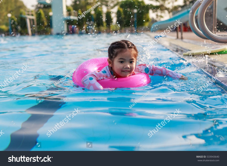 Little Girl Swimming Pool Inflatable Ring Stock Photo 533943640 Shutterstock