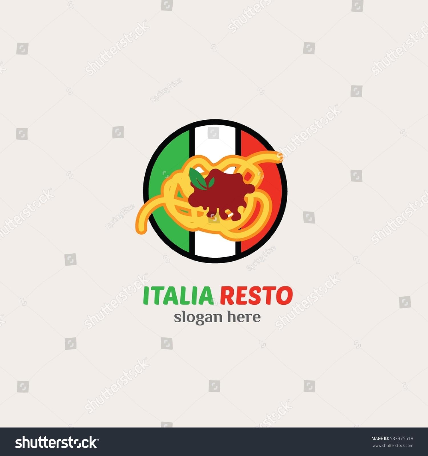Vector De Stock Libre De Regalias Sobre Italian Restaurant Logo Design Template Vector533975518