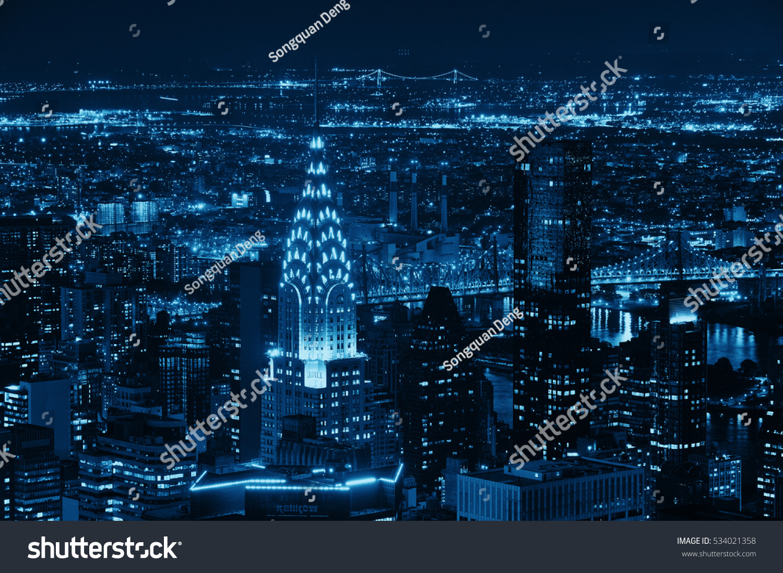 New york city sep 11 chrysler stock photo 534021358 shutterstock new york city sep 11 chrysler building at night on september 11 2015 biocorpaavc Choice Image