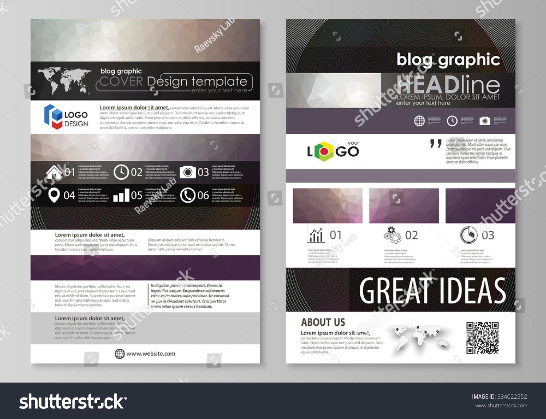Blog Graphic Business Templates Page Website Stock-vektorgrafik ...