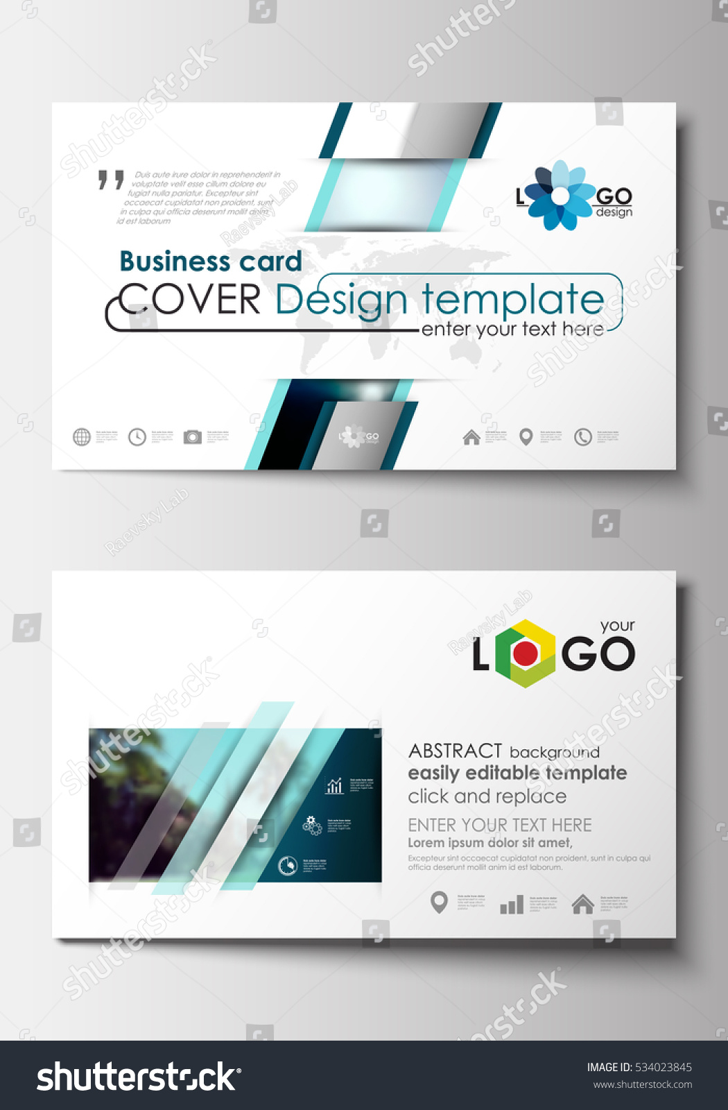 Business card templates flat design blue stock vector 534023845 business card templates flat design blue color travel decoration layout easy editable vector template magicingreecefo Choice Image
