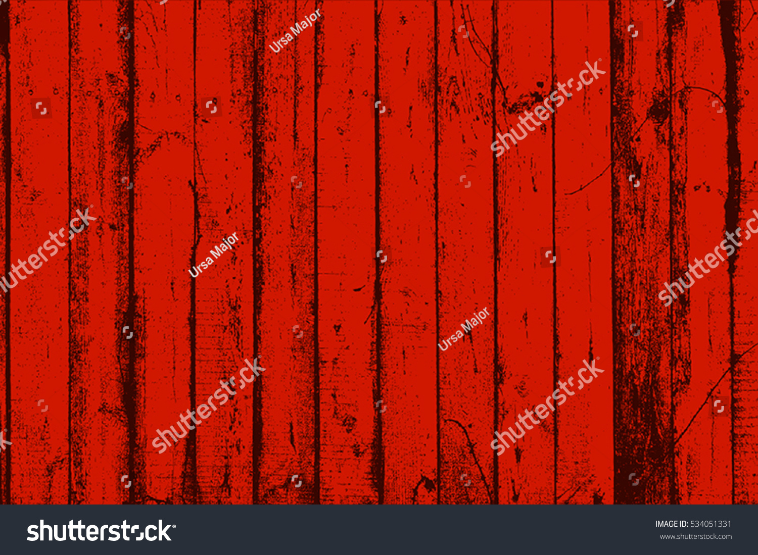 Distress Red Wooden Planks Overlay Texture Stock Vector