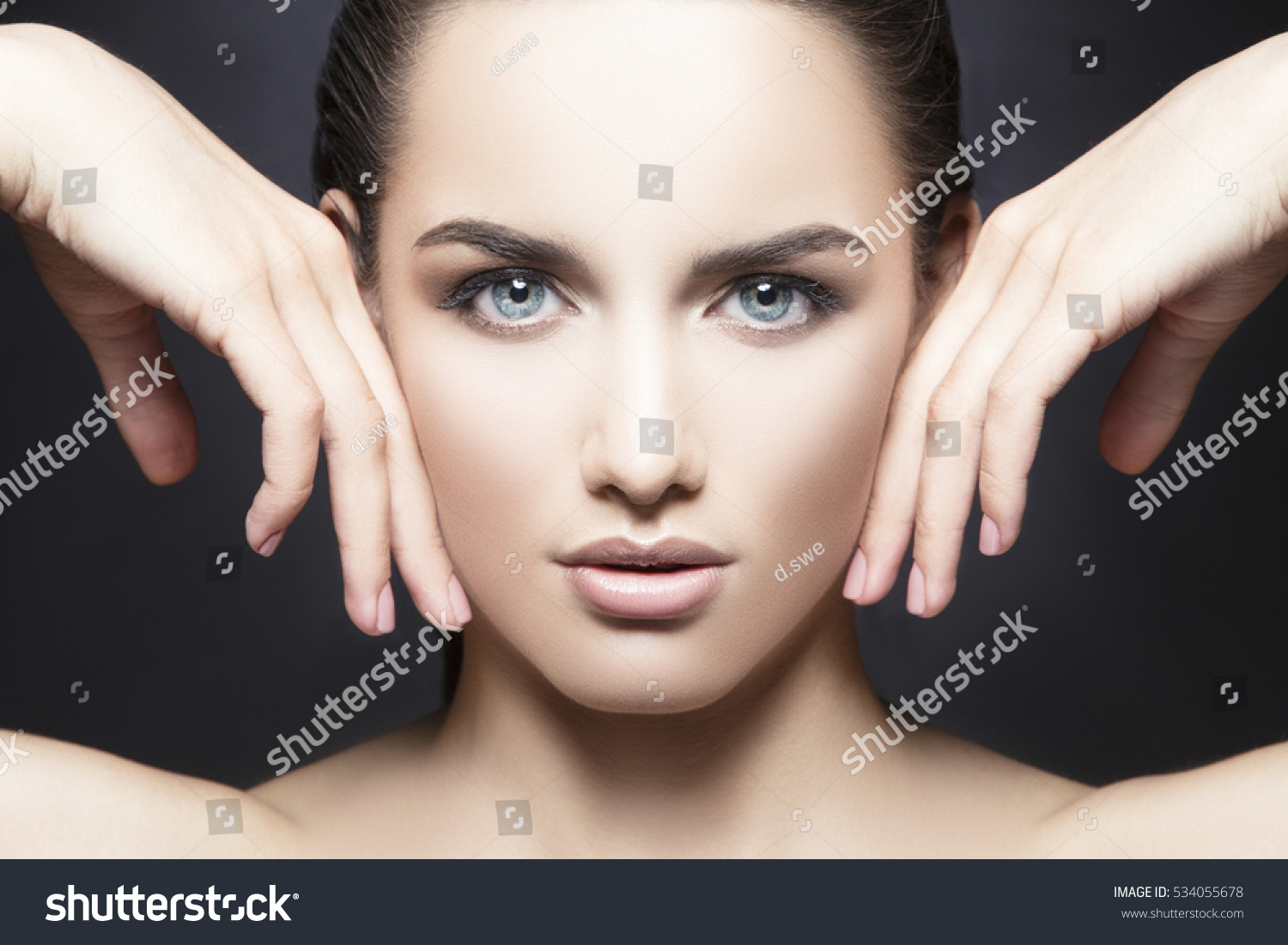Beauty Fashion Vogue Style Face Caucasian Stock Photo