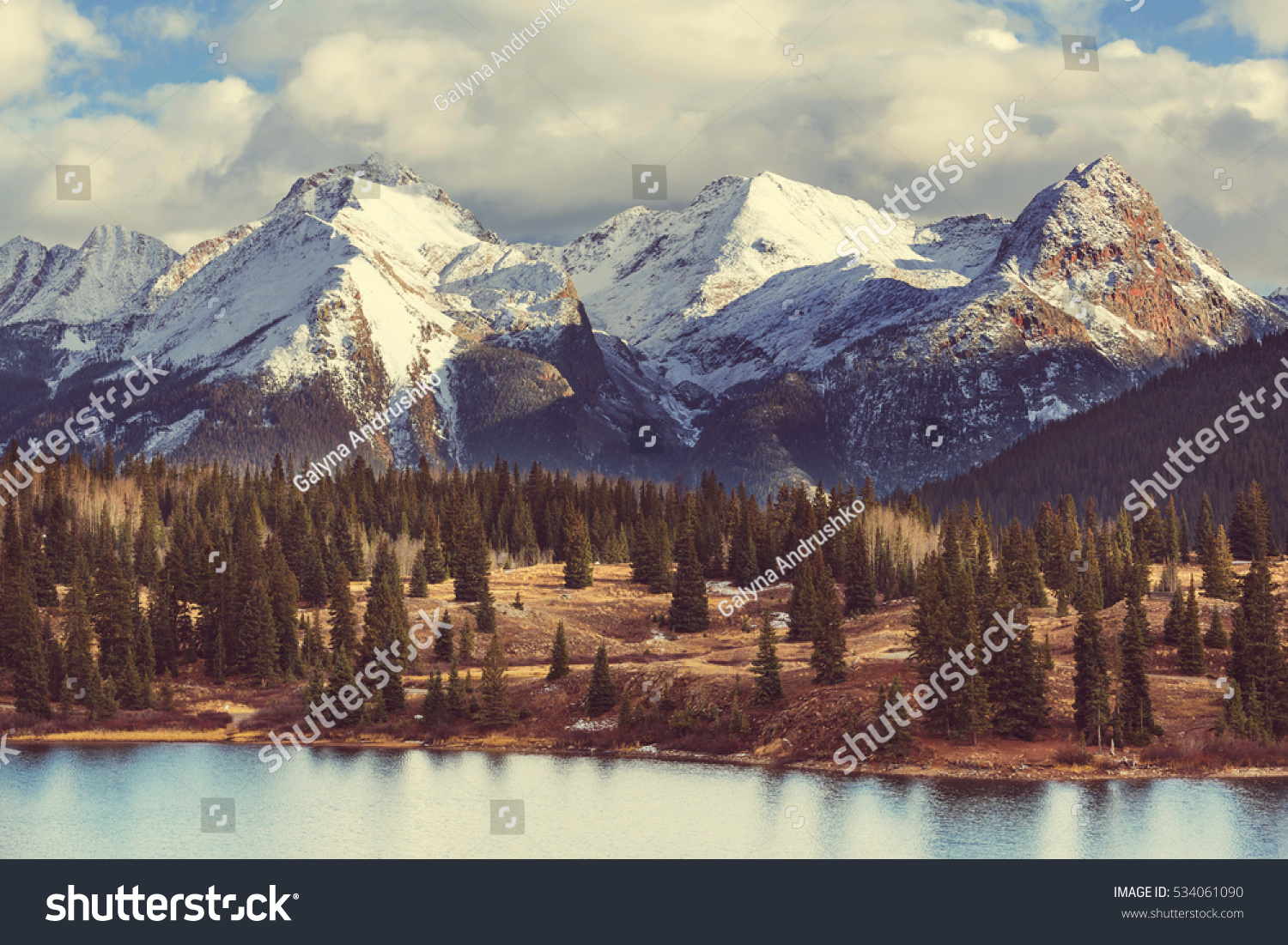 Mountain Landscape Colorado Rocky Mountains Colorado Stock Photo - United states mountains