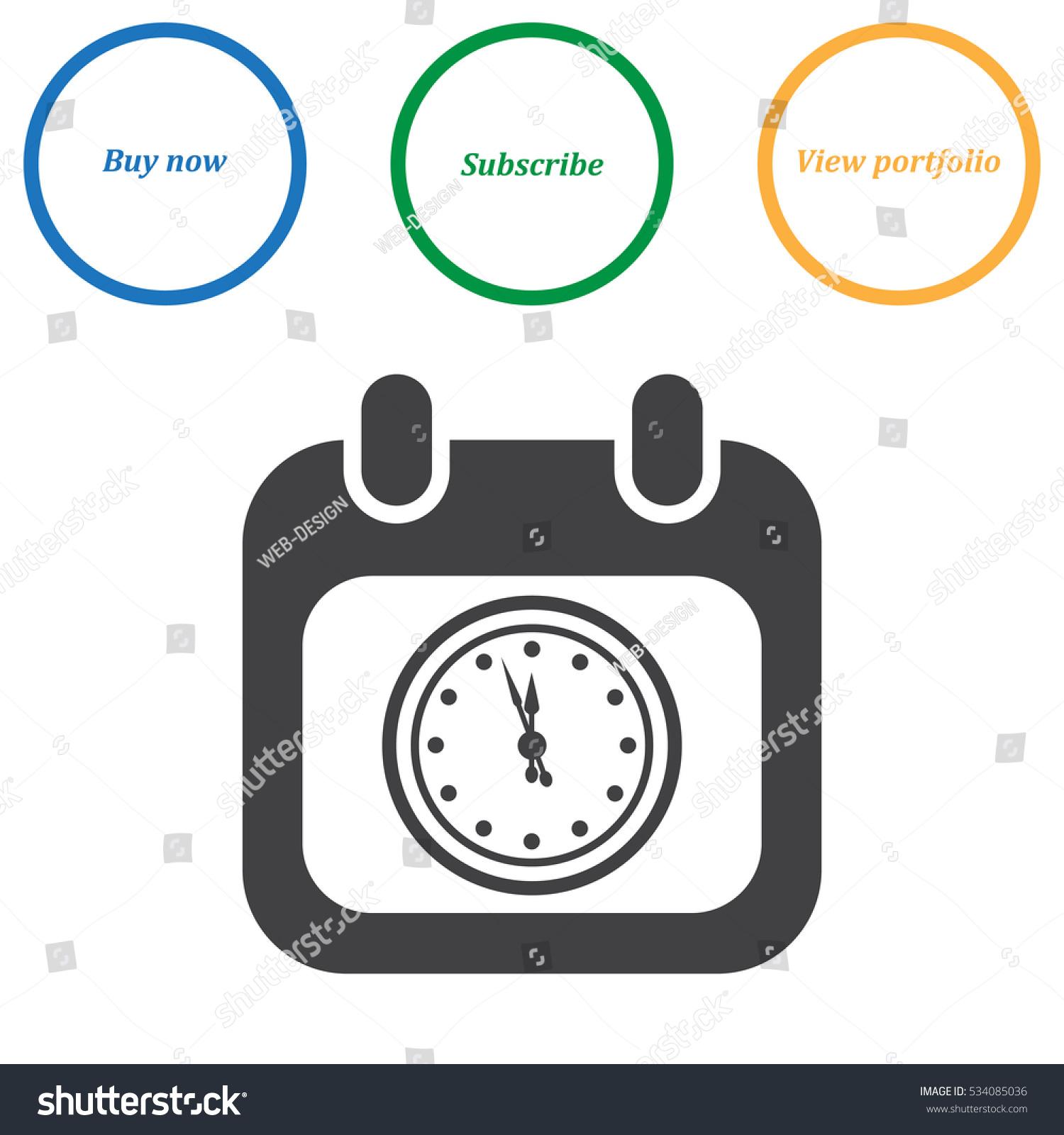 Calendar Flat Illustration : Calendar icon vector flat design style stock