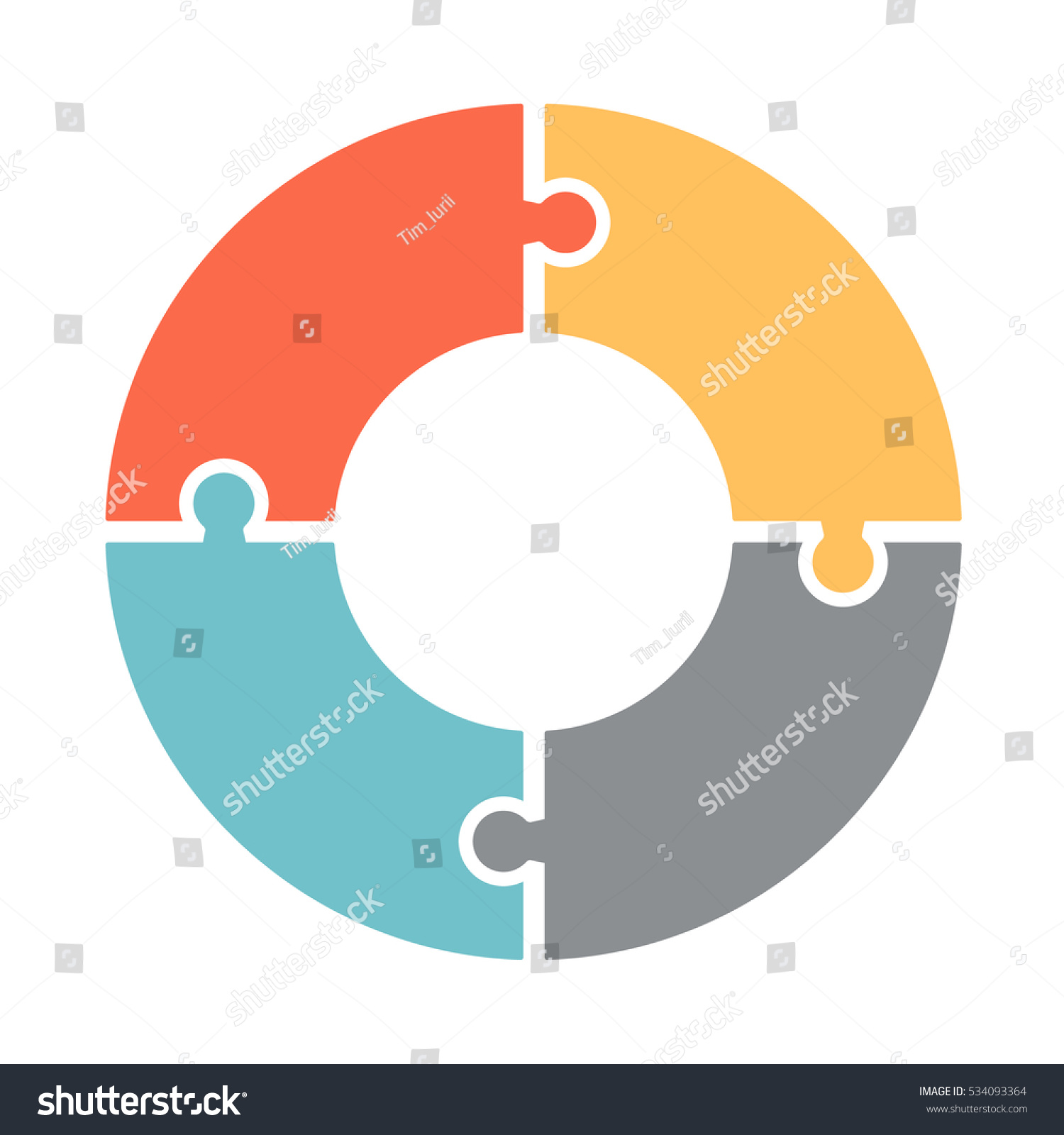 Infographics Vector Diagram Pattern Pie Chart Stock Royalty The Of A Four Colored Sections