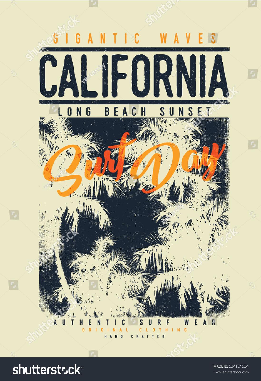 Surf graphic tshirt printing surfing design stock vector for Graphic design t shirt printing