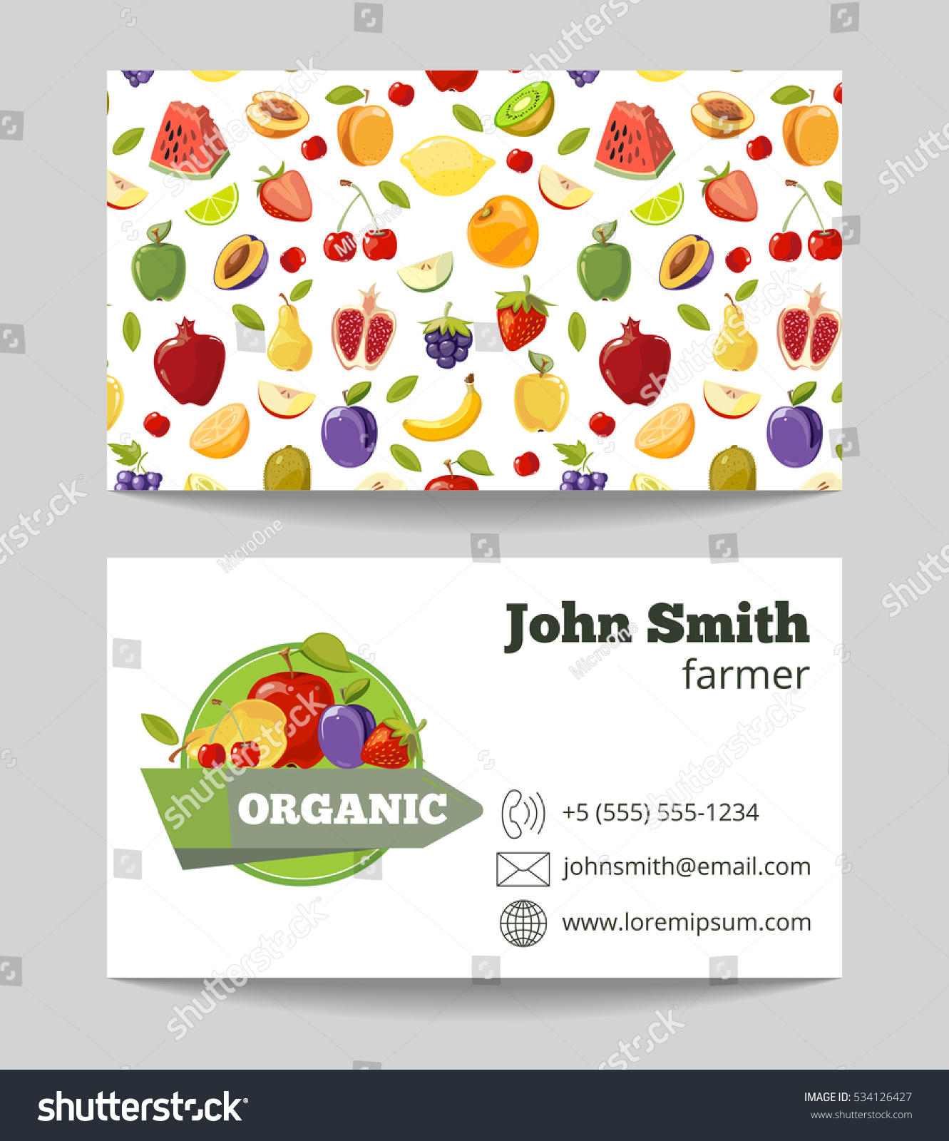 Organic fruits farmer business card template stock illustration organic fruits farmer business card template fruit farm company illustration magicingreecefo Choice Image