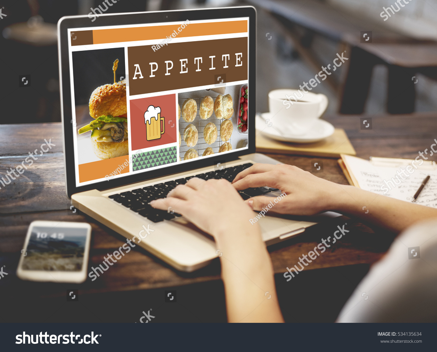 food menu appetite cuisine concept stock photo 534135634 shutterstock. Black Bedroom Furniture Sets. Home Design Ideas