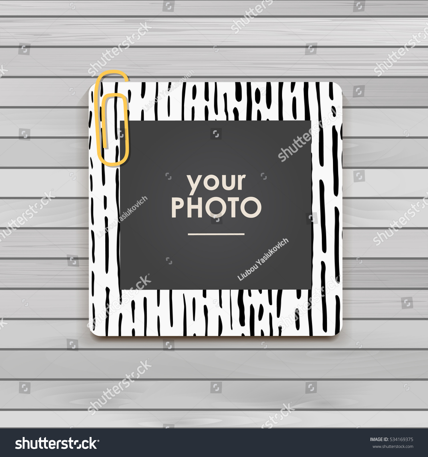 Photo Frame Album Template Kid Baby Stock Vector Royalty Free