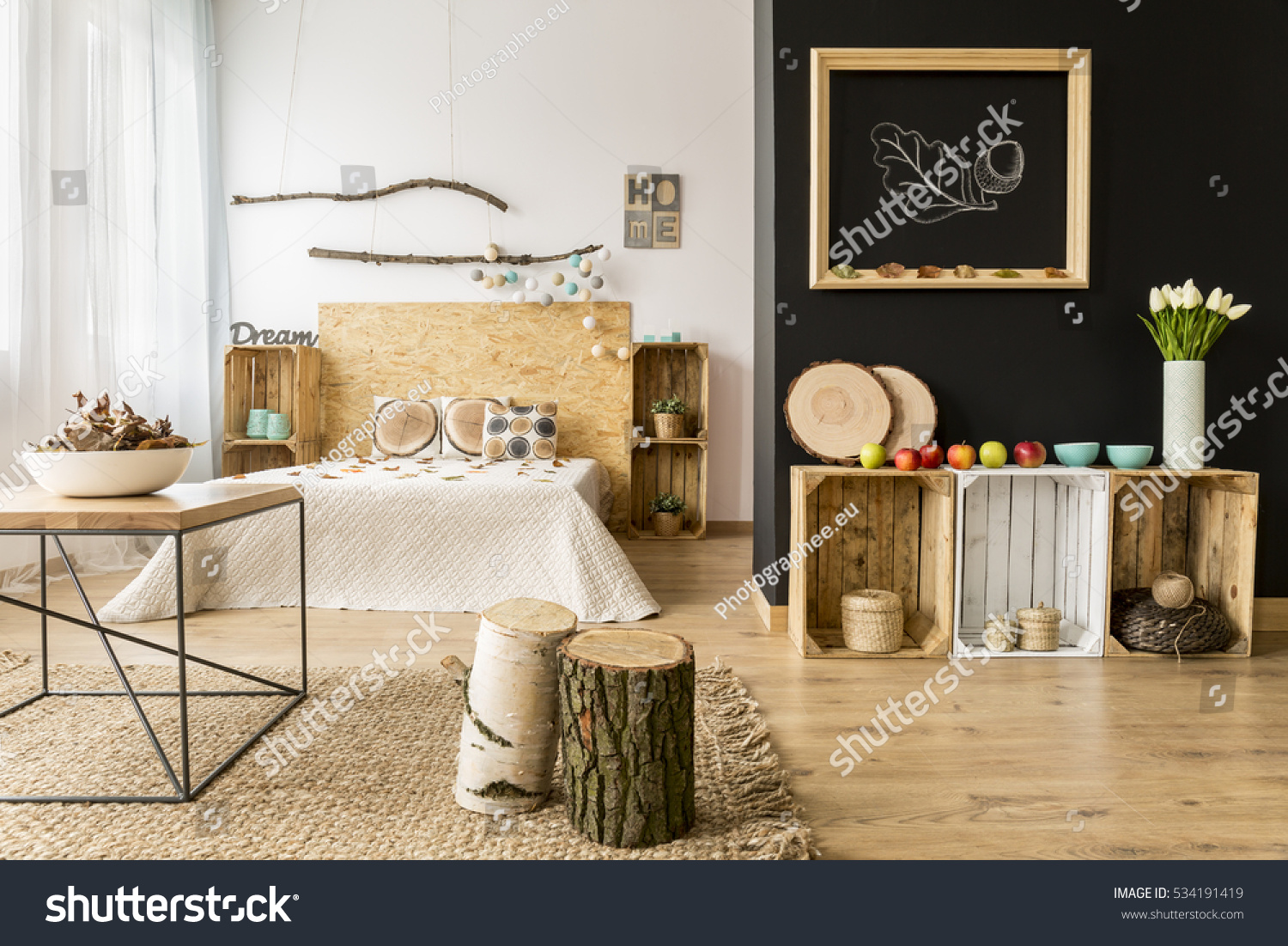 Cozy Modern Home Decor Inspired By Stock Photo 534191419 ...