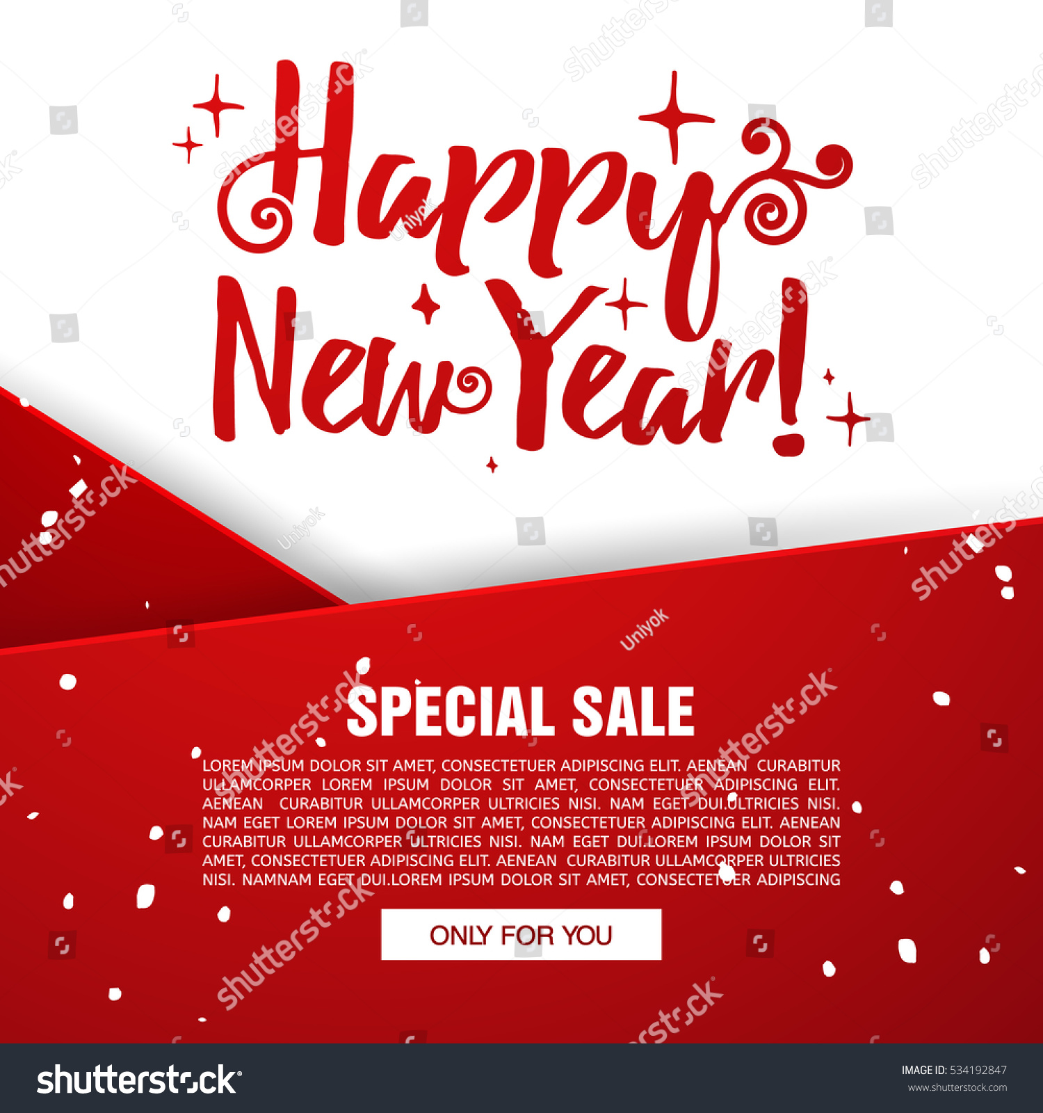 template design christmas banner happy new year brochure with decoration red tape for xmas sale