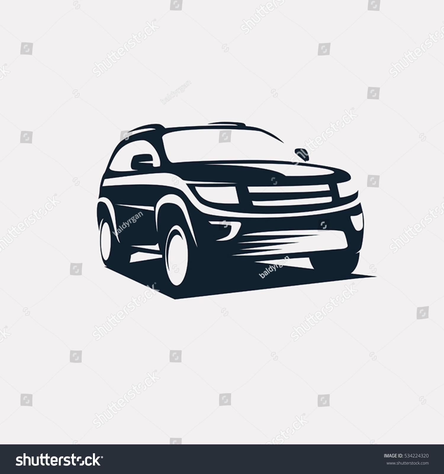 Modern Suv Logo Template Offroader Car Stock Vector