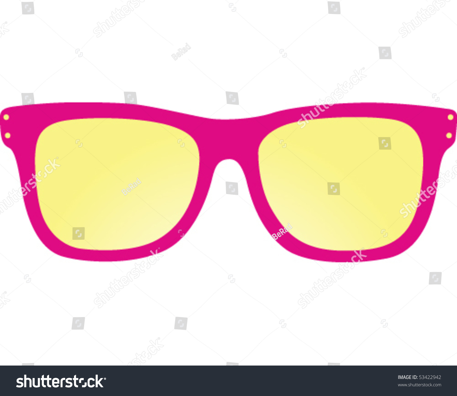 Pink Sunglasses Stock Vector Illustration 53422942