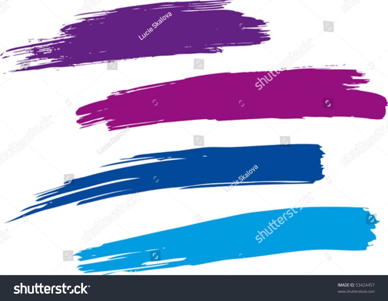 strokes paint brush vector stock vector hd royalty free 53424457 rh shutterstock com paint brush vector art paint brush vector graphics