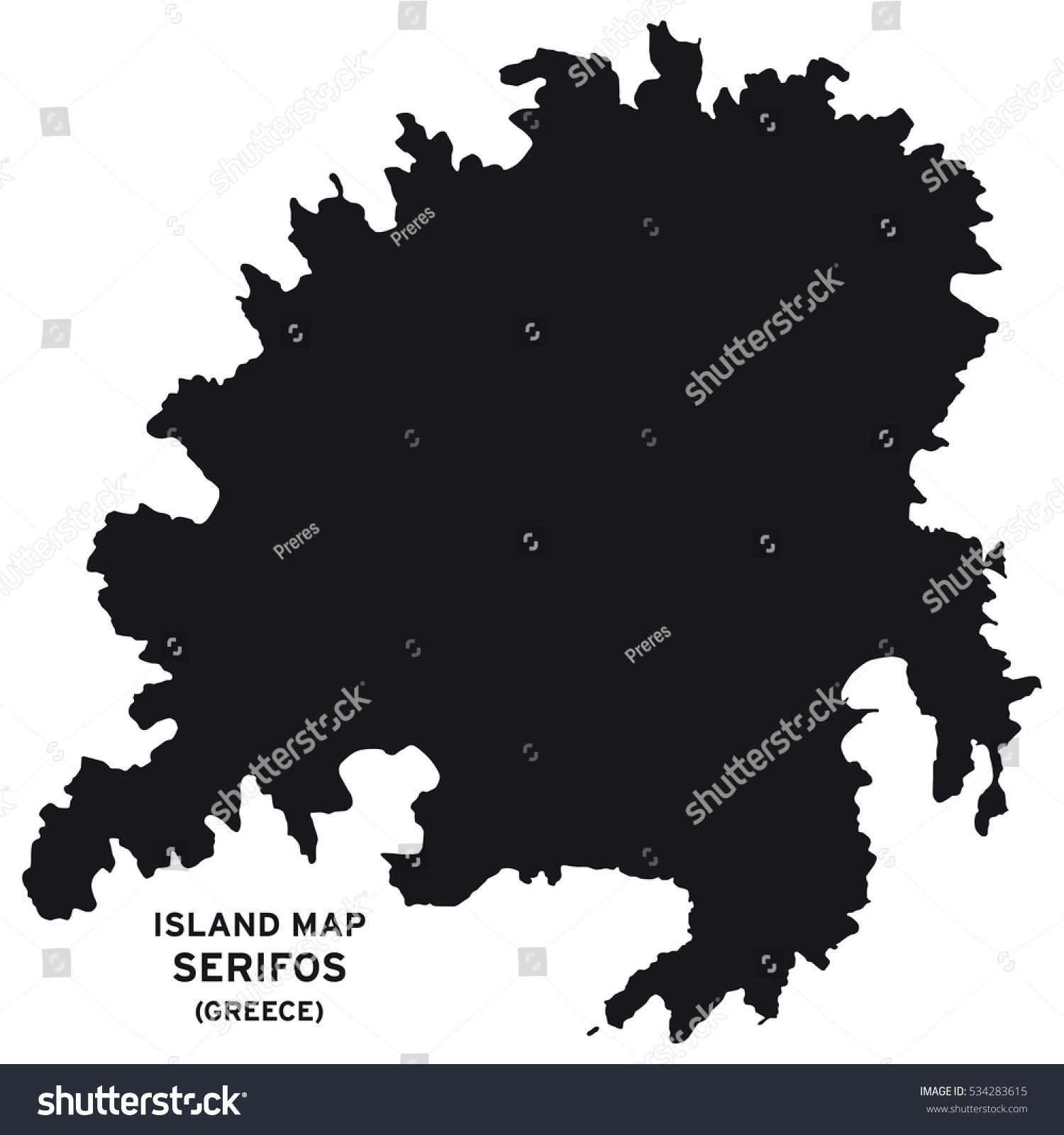 Island Map Serifos Greece Stock Vector Royalty Free 534283615