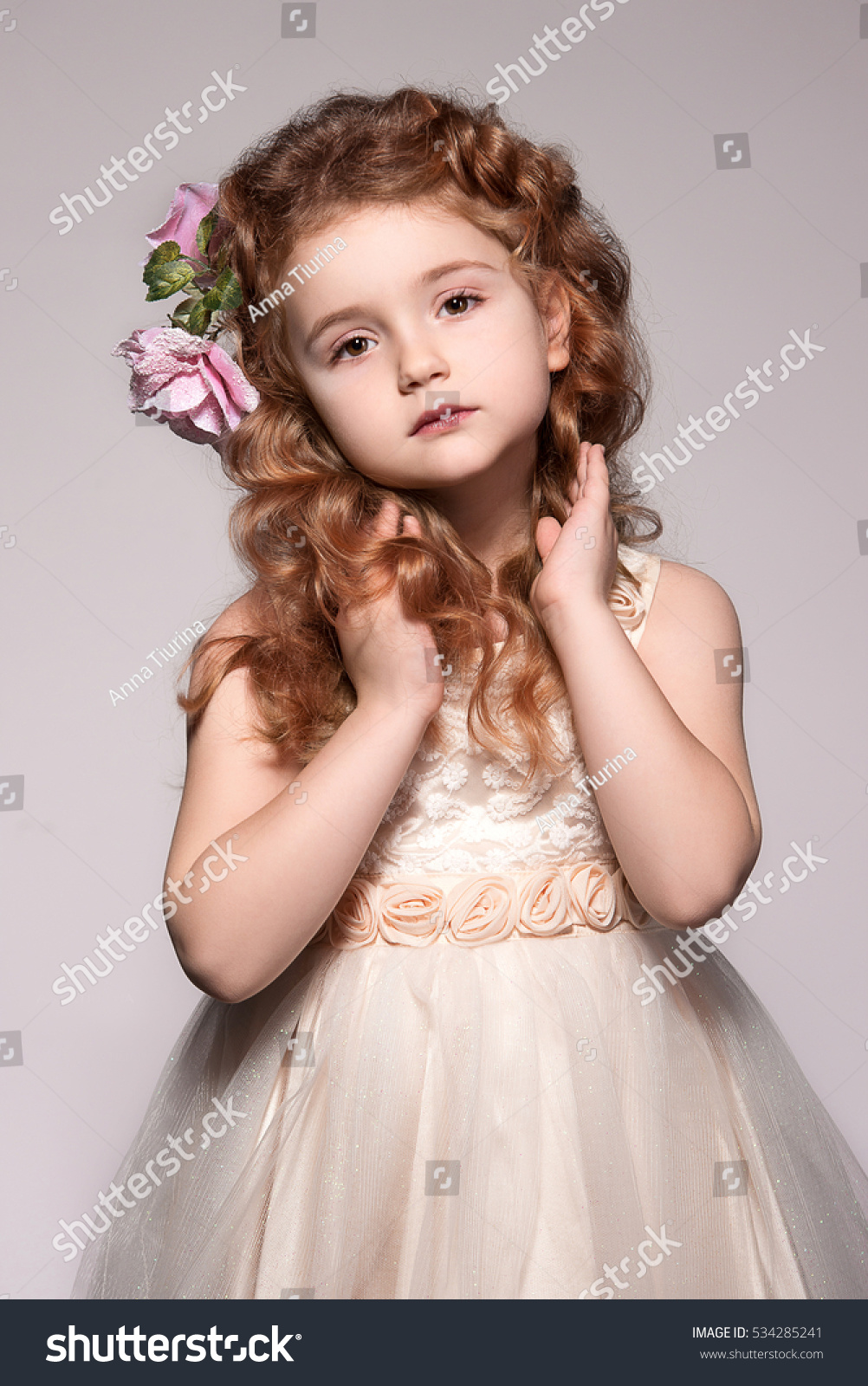 beautiful baby girl looking like angel stock photo & image (royalty