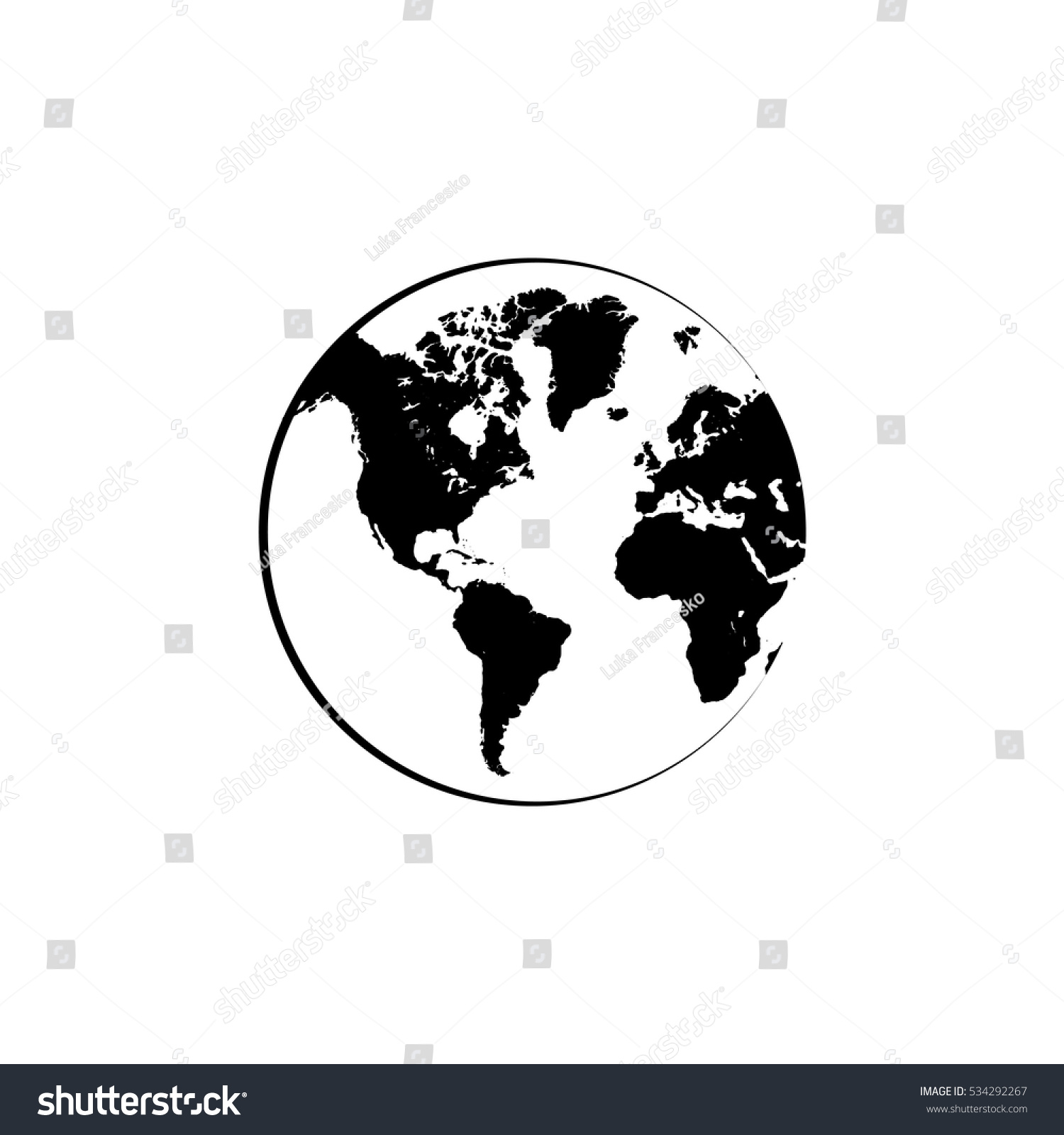 Connection networking world map vector icon vectores en stock connection networking world map vector icon gumiabroncs Gallery