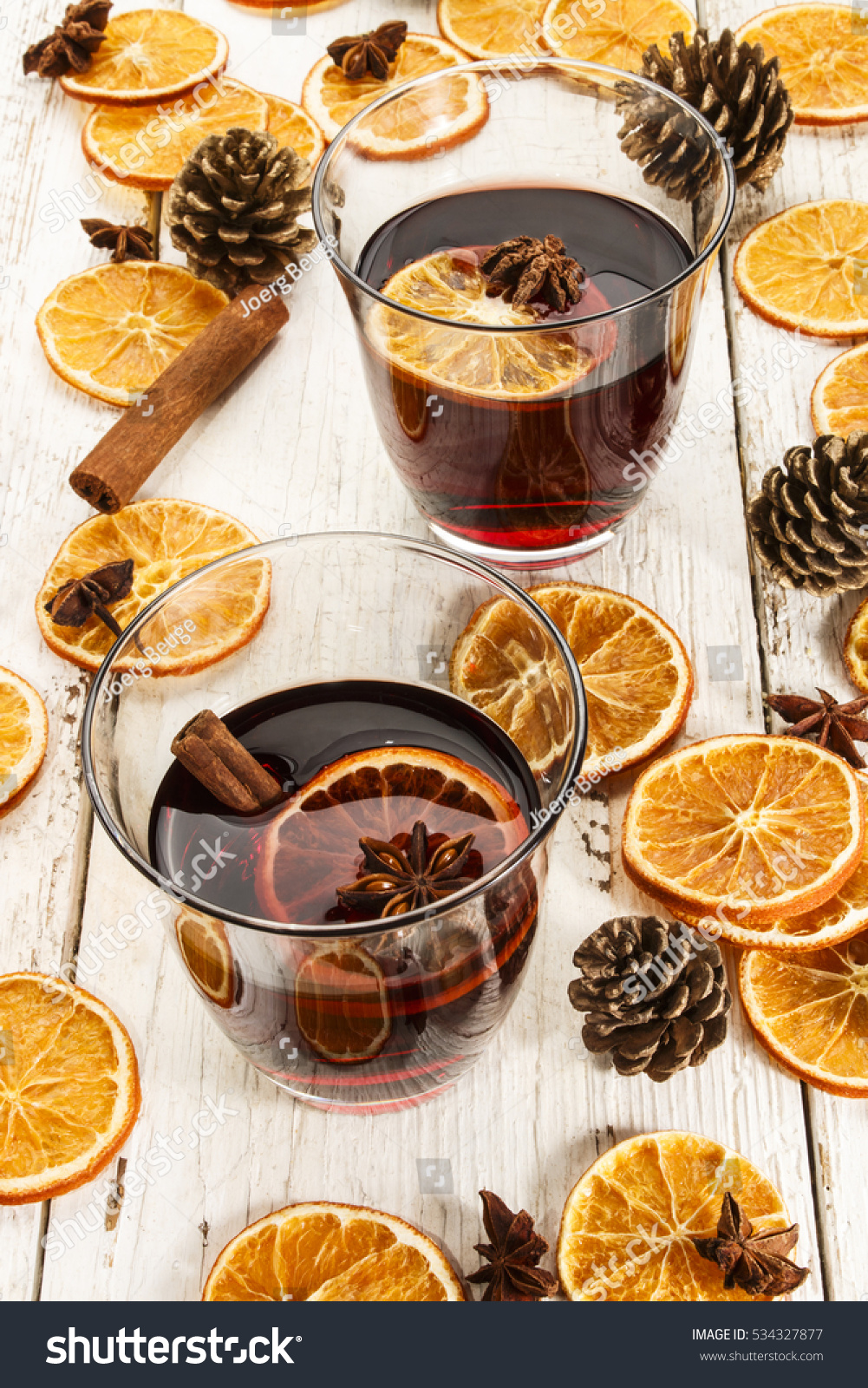 Mulled Wine Cinnamon Anise Dry Orange Stock Photo Edit Now