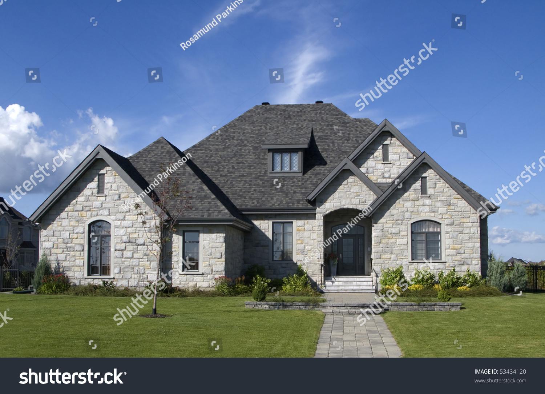 Luxury Stone House Stock Photo 53434120 Shutterstock