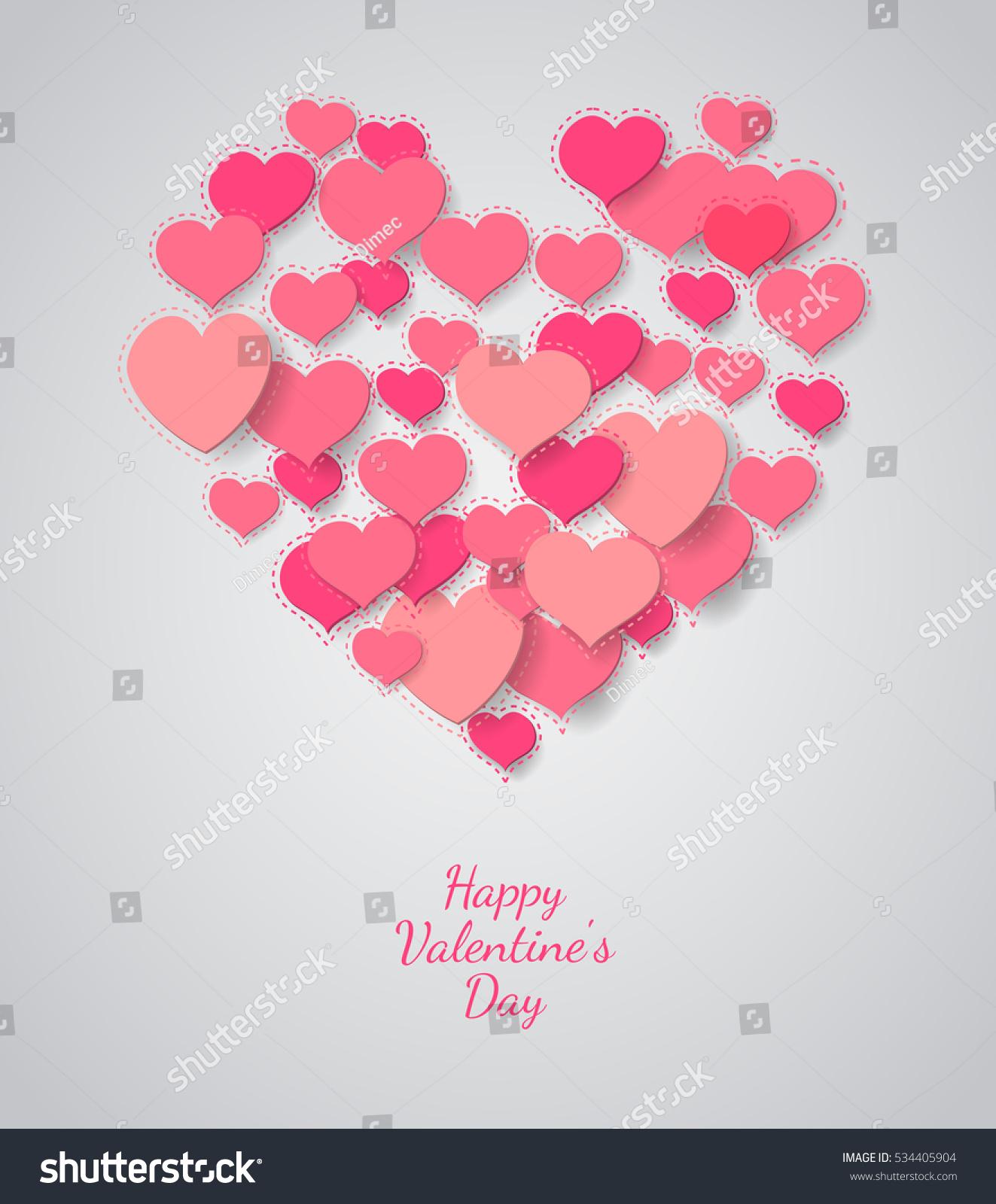 Valentine Background Heart Symbol On Light Stock Vector Royalty