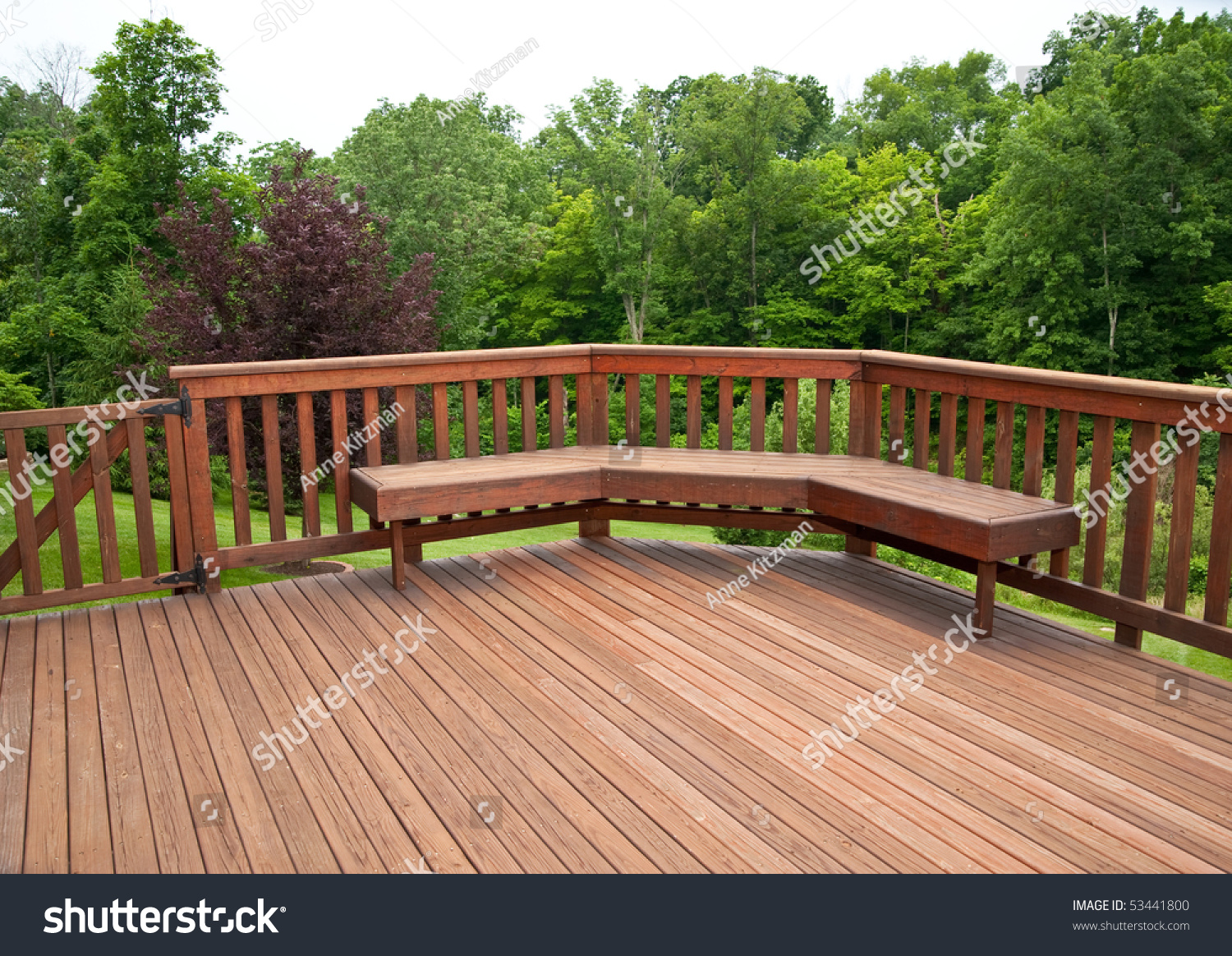 Picture of: Redwood Stained Deck Boards Bench Seat Stock Photo Edit Now 53441800