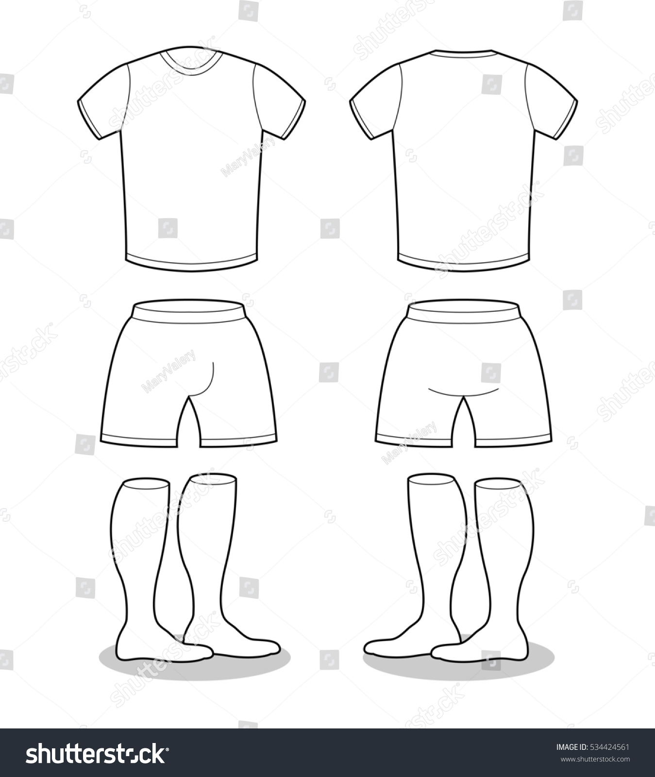 sample sports clothing soccer tshirt shortsのイラスト素材 534424561