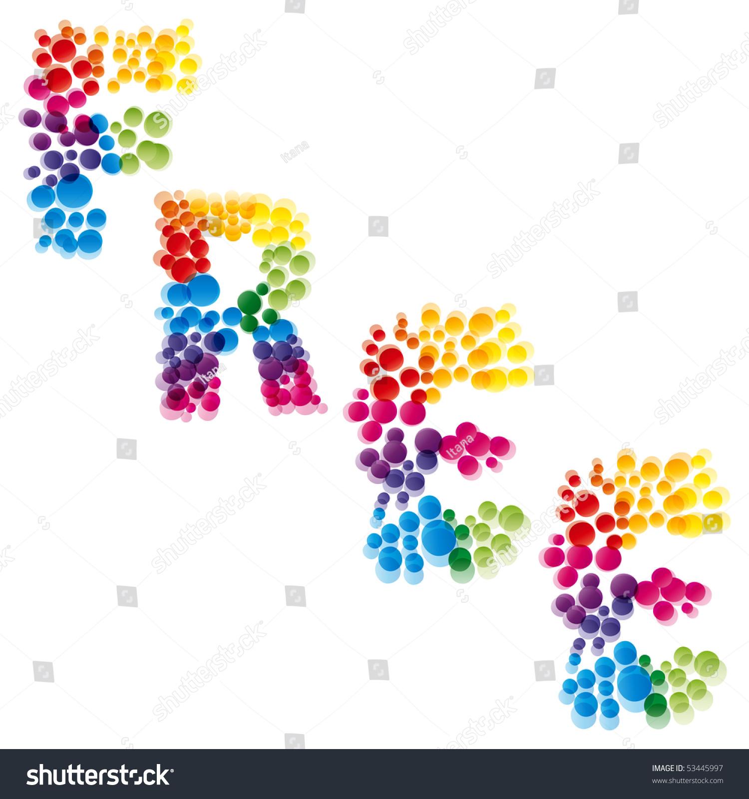 free rainbow font stock illustration 53445997 shutterstock