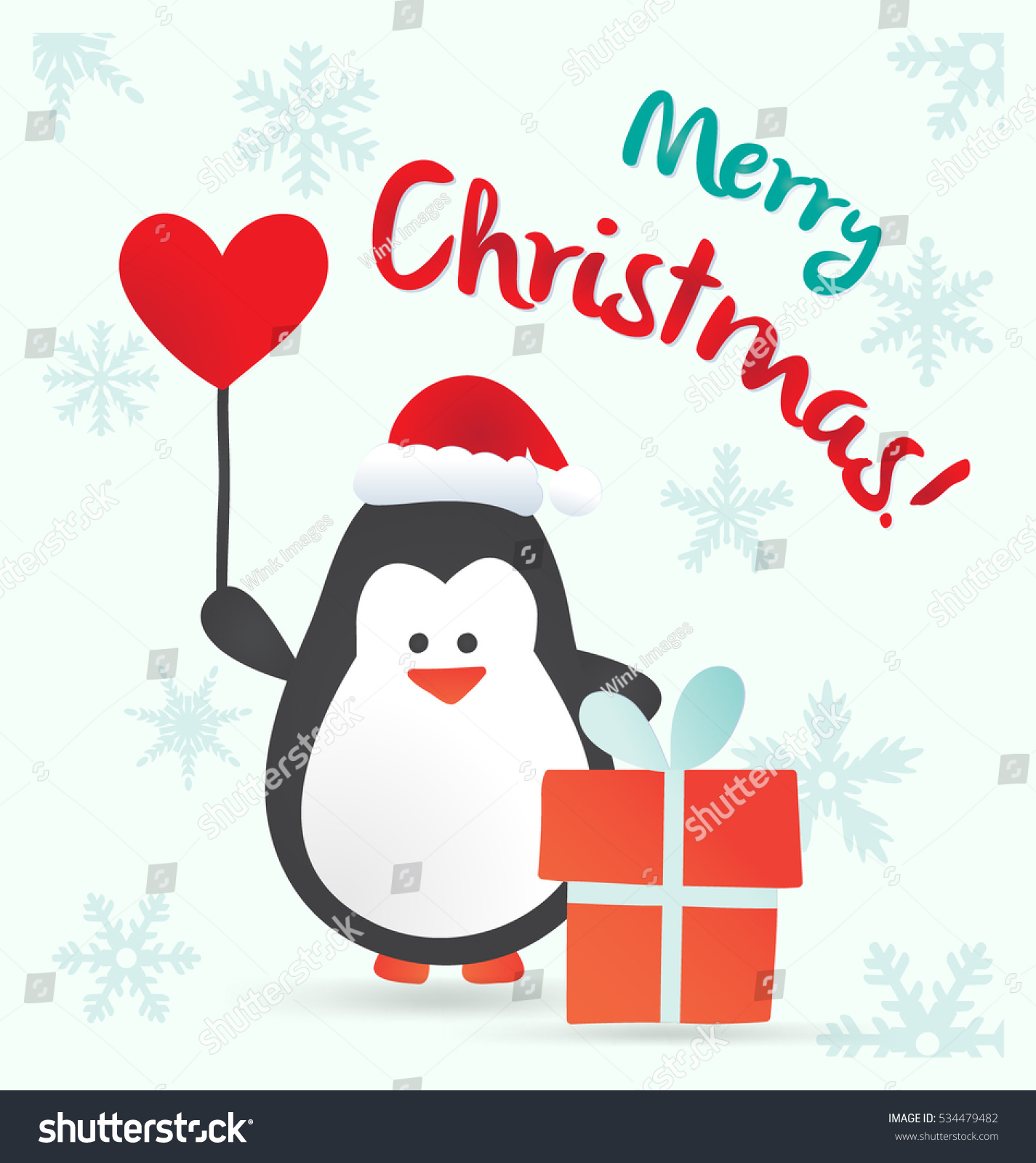 Merry christmas greeting card template cute stock vector royalty merry christmas greeting card template with cute penguin character m4hsunfo