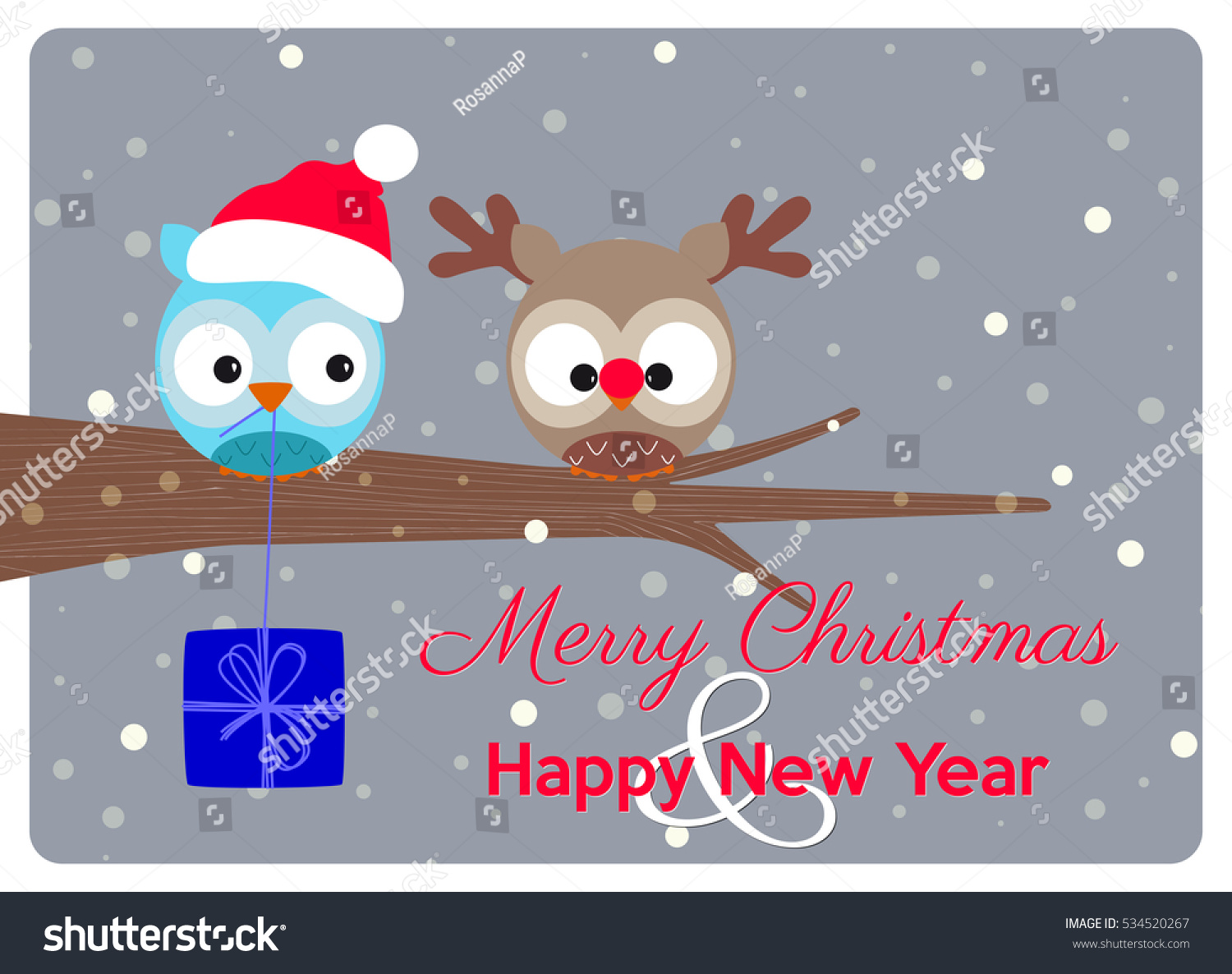 Christmas Greeting Card Best Wishes Merry Stock Vector Royalty Free