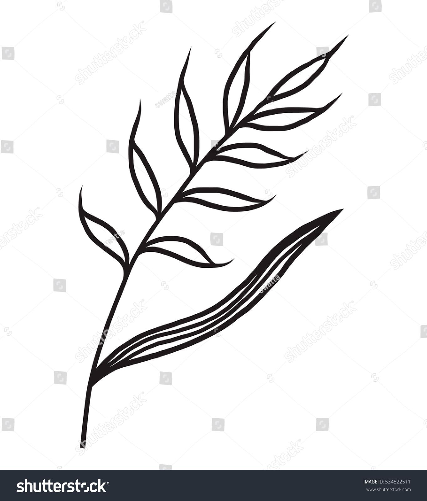 Flower Cartoon Vector Illustration Black White Stock Vector Royalty