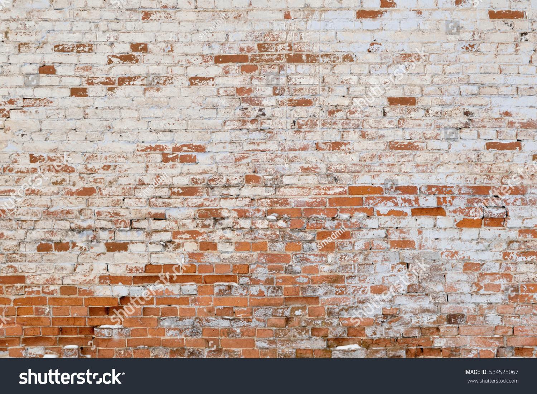 Old Brick Wall White Red Bricks Стоковые Фотографии